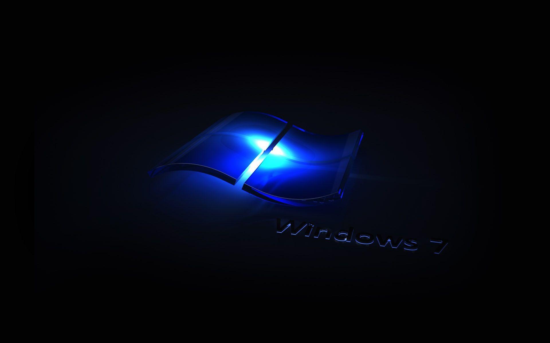 Windows 7 Dark Black Blue Wallpapers – – 126628