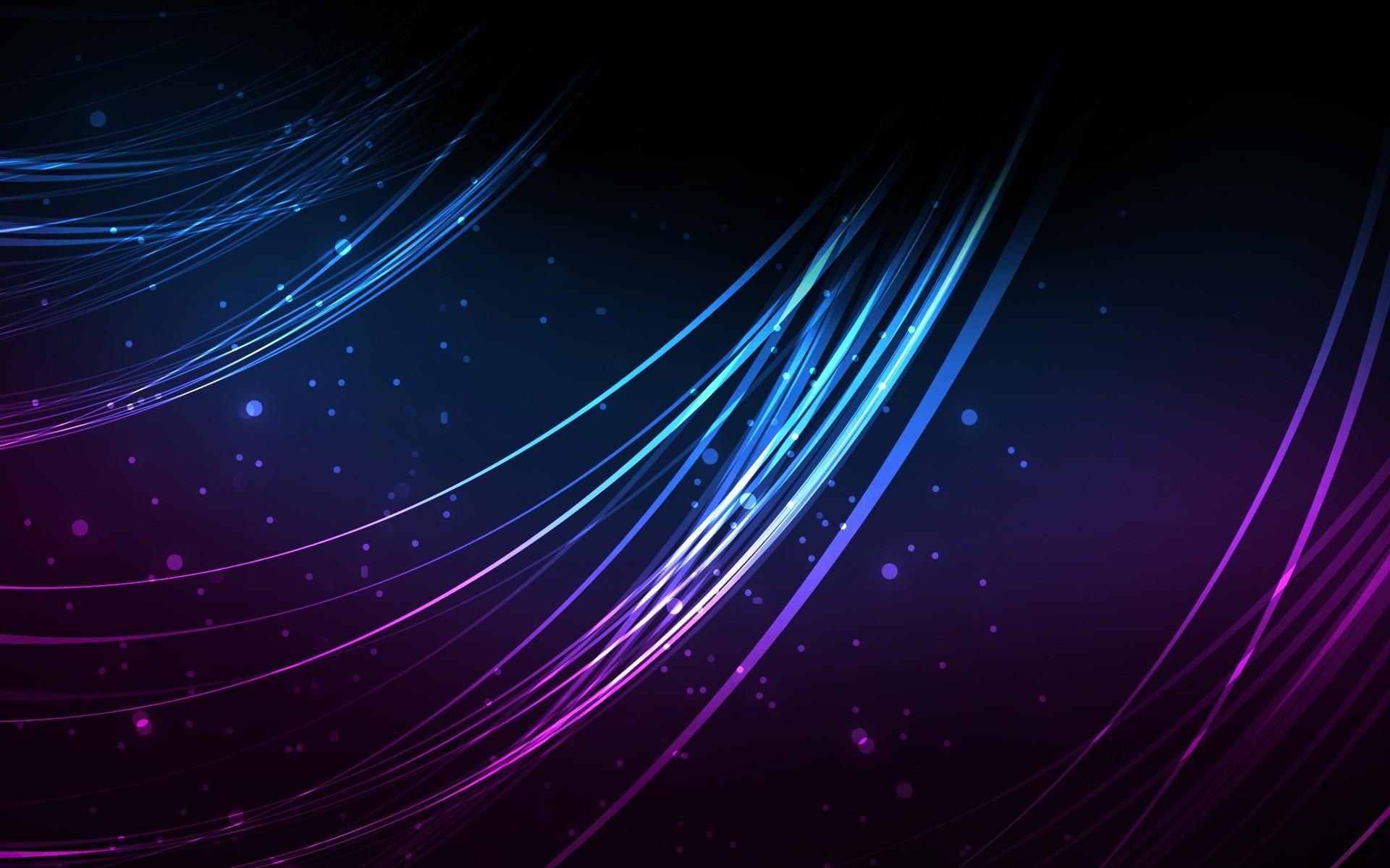 Purple and Blue Strands desktop wallpaper