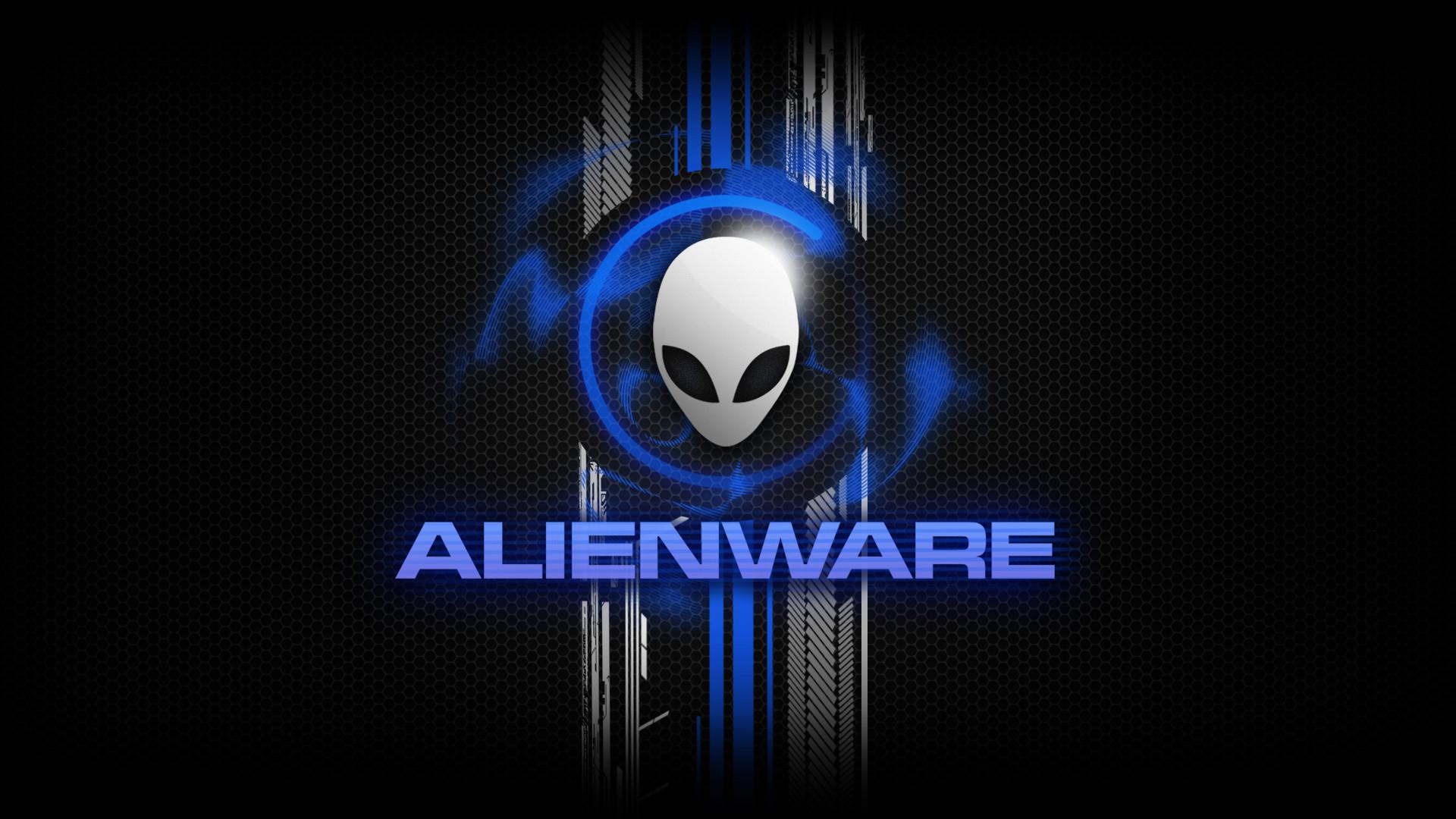 Alienware Desktop Background Alienware Head Blue Honeycomb Design 1920×1080