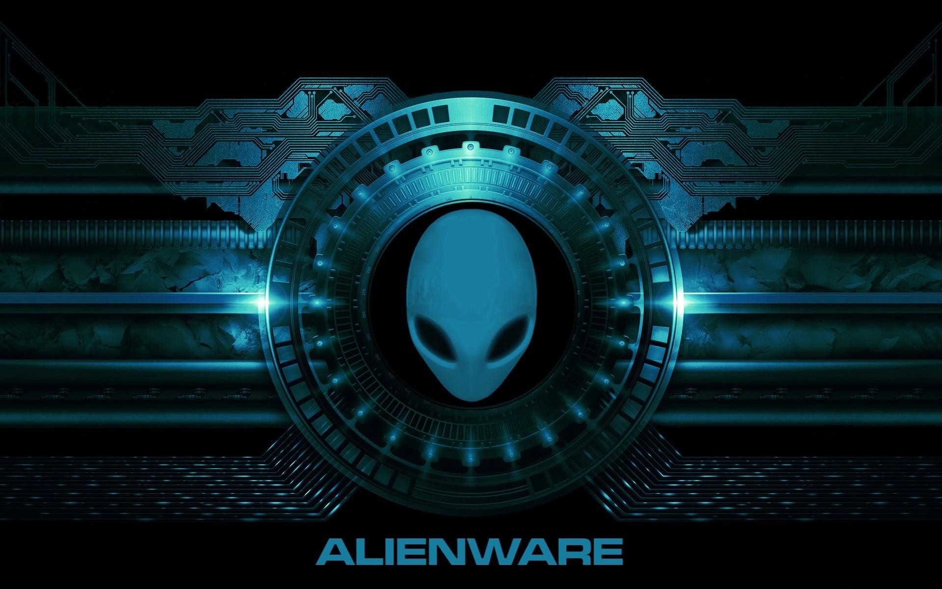 Alienware Desktop Background Blue Mechanical Circuit 1920×1200