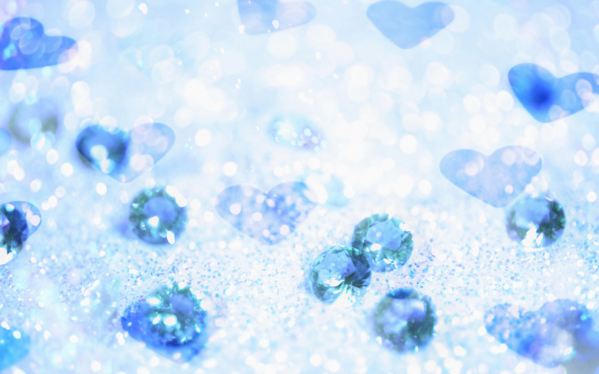 Icy Blue Heart Wallpaper For Beloved