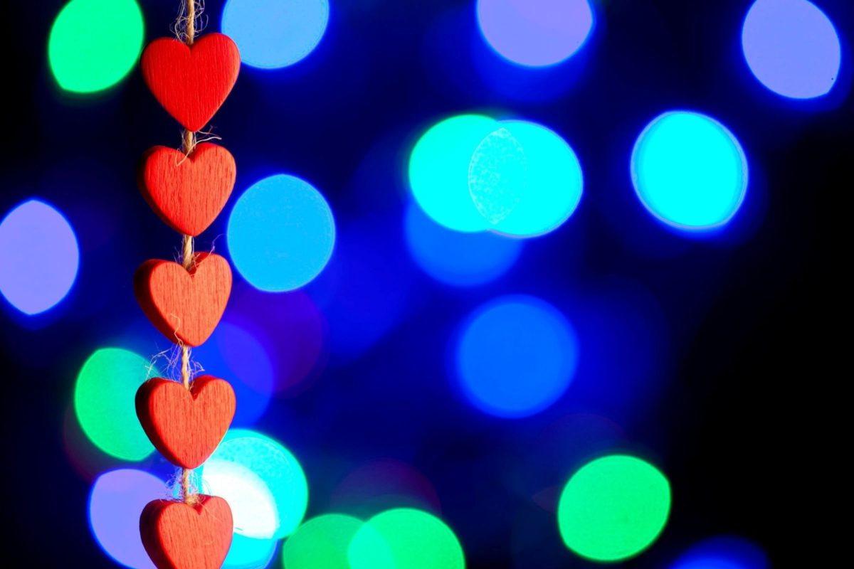 Mood Heart Heart Red Love Bokeh Blur Love Wallpaper Widescreen
