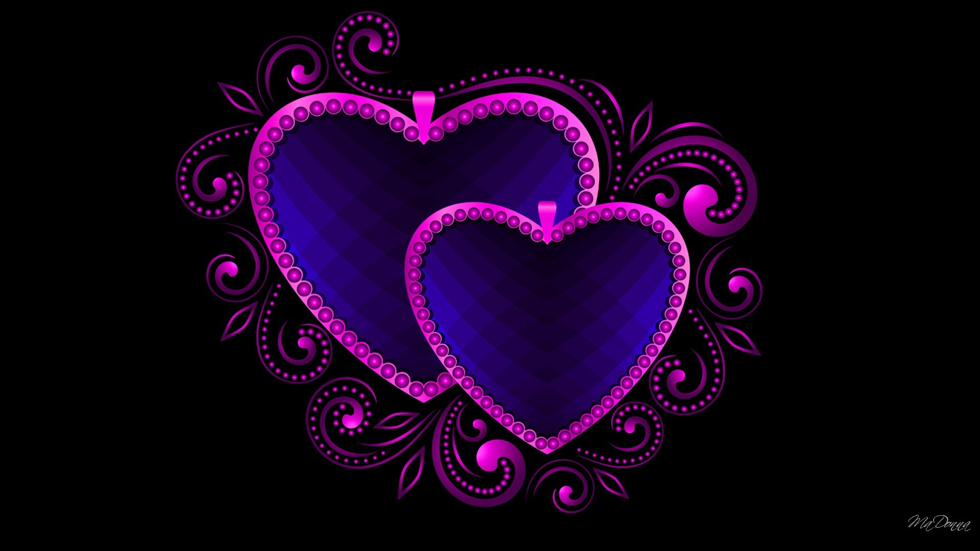 Artistic – Heart Artistic Blue Purple Wallpaper
