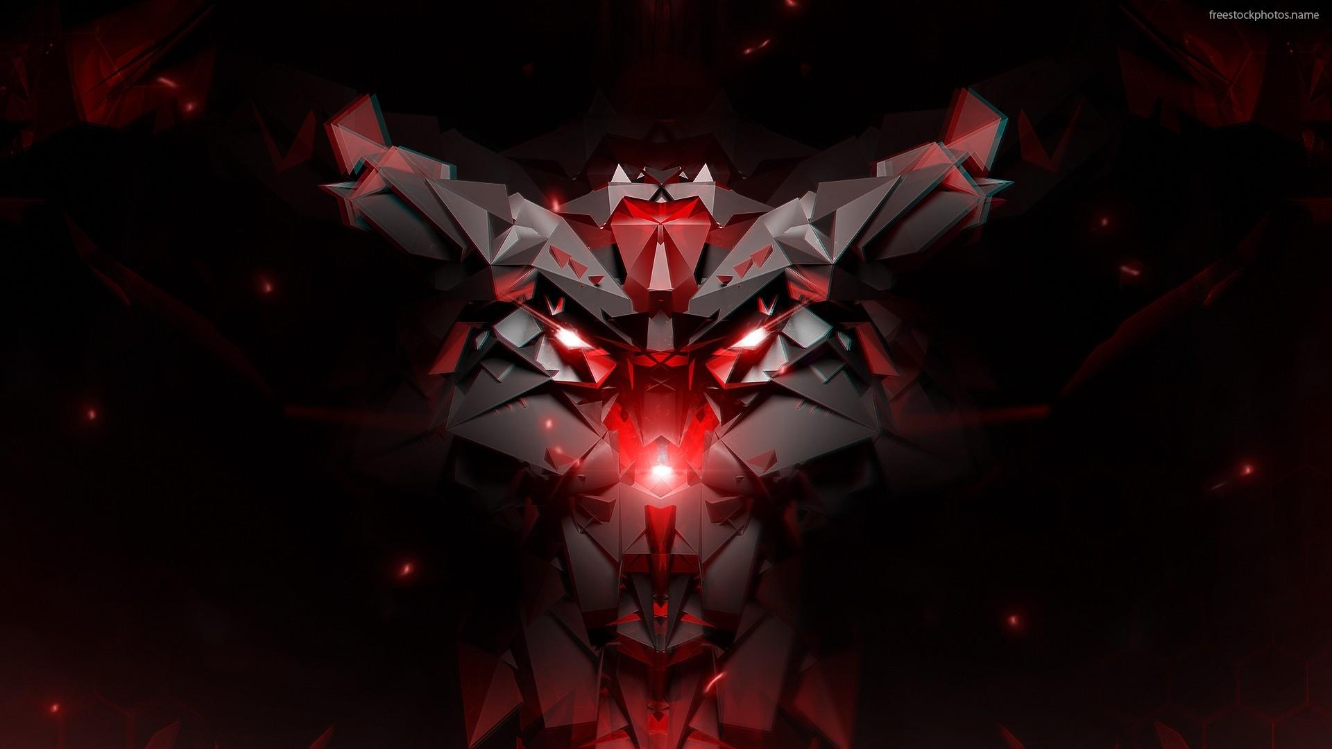Dark Red Abstract Desktop HD Wallpaper