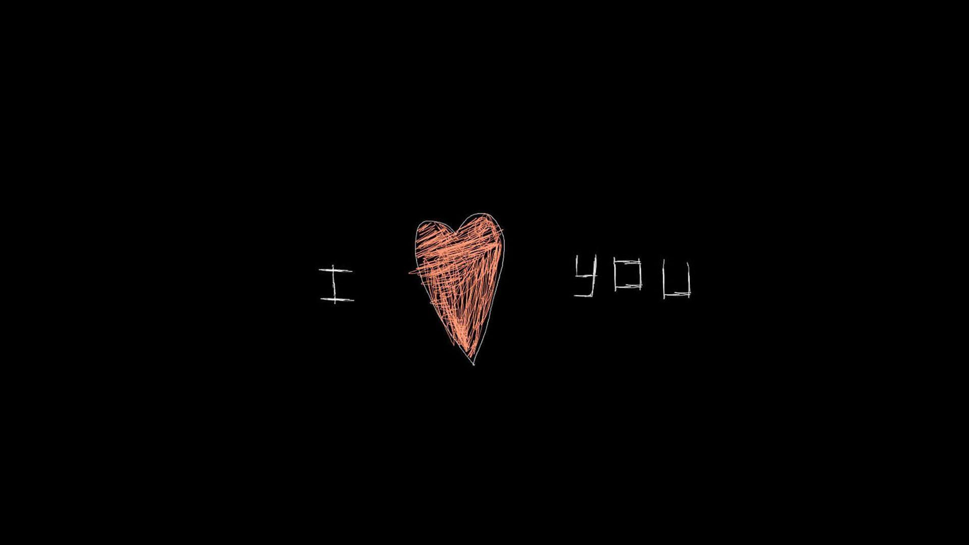 I Love You Heart Art HD Wallpaper