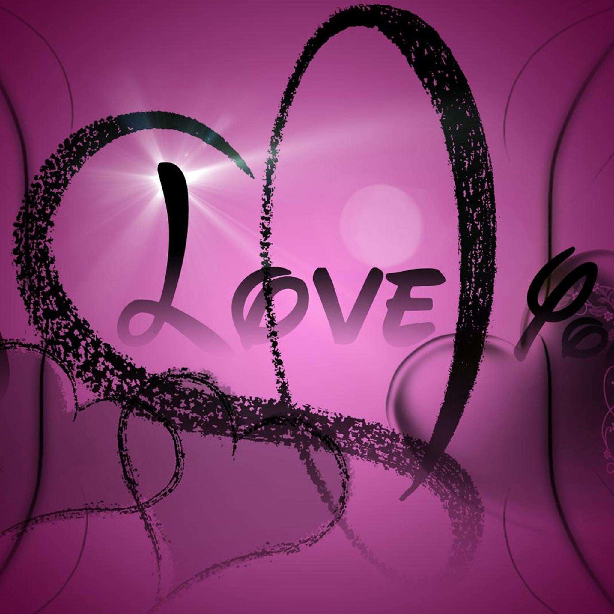 Black love iPad Air 2 Wallpapers