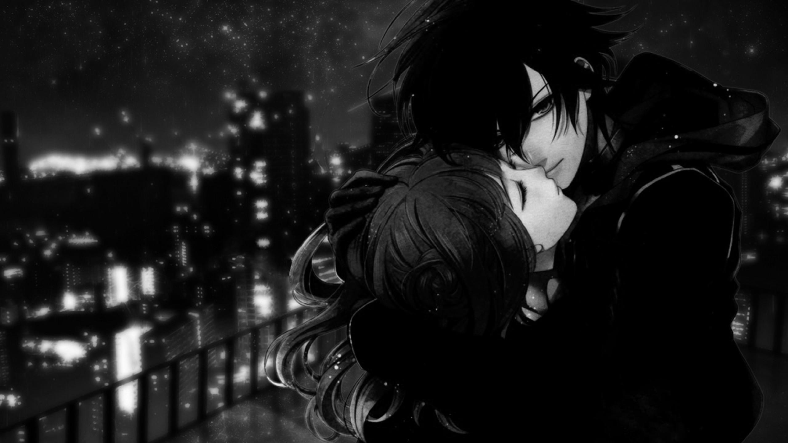 Black White Anime Love Picture #7454 Wallpaper