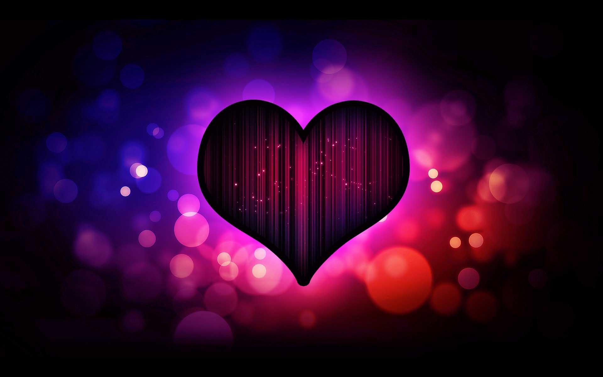 Download Purple Hearts HD Wallpapers for Desktop