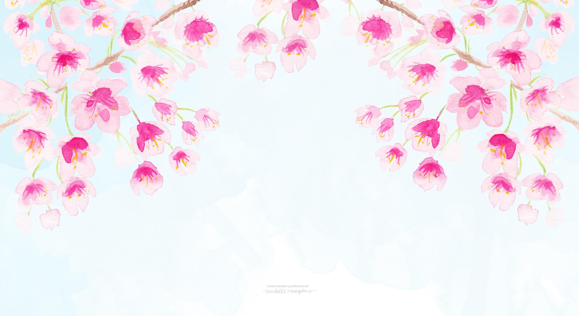click & save cherry blossoms computer wallpaper