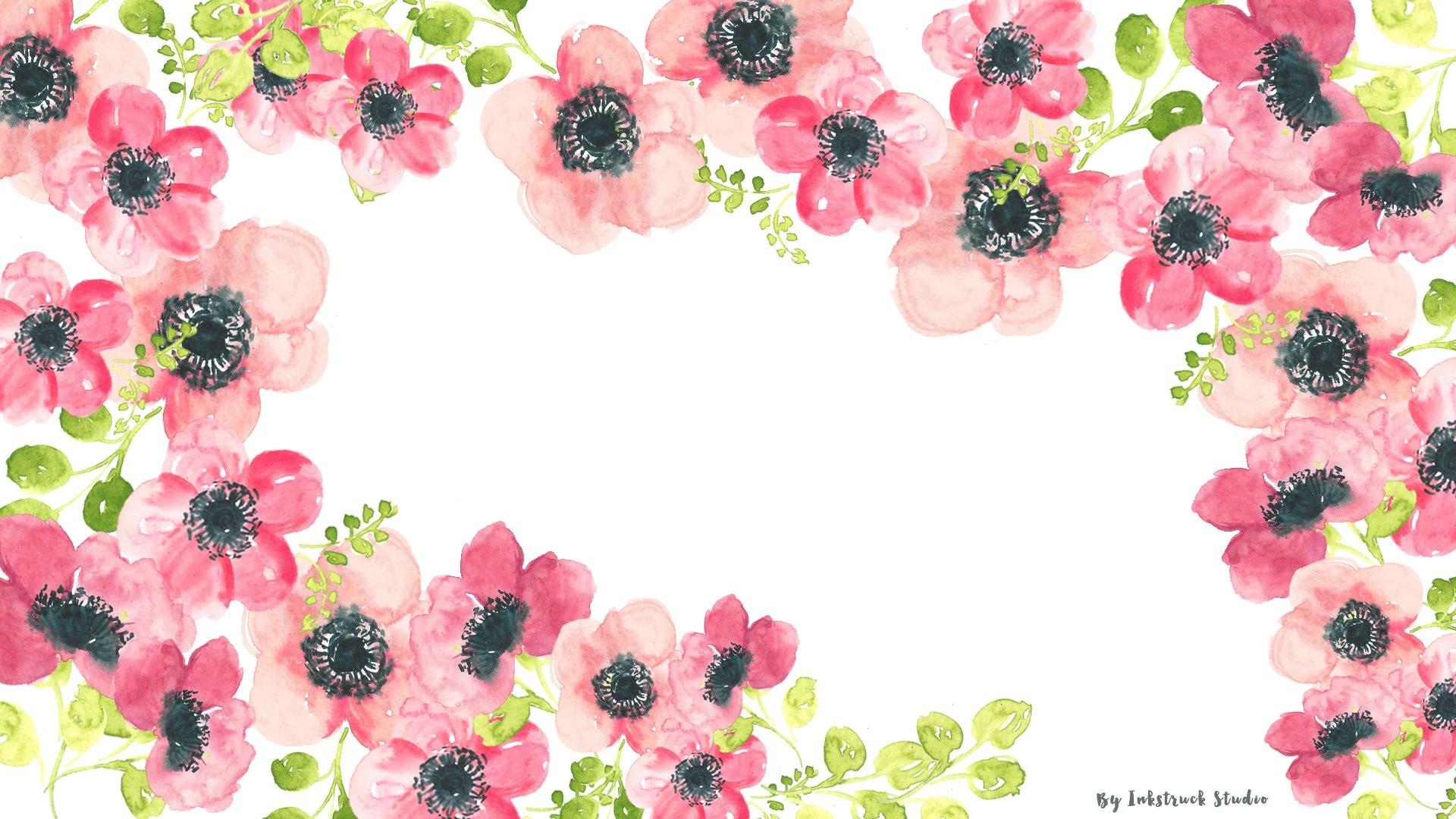 Watercolors floral wallpaper for desktop …