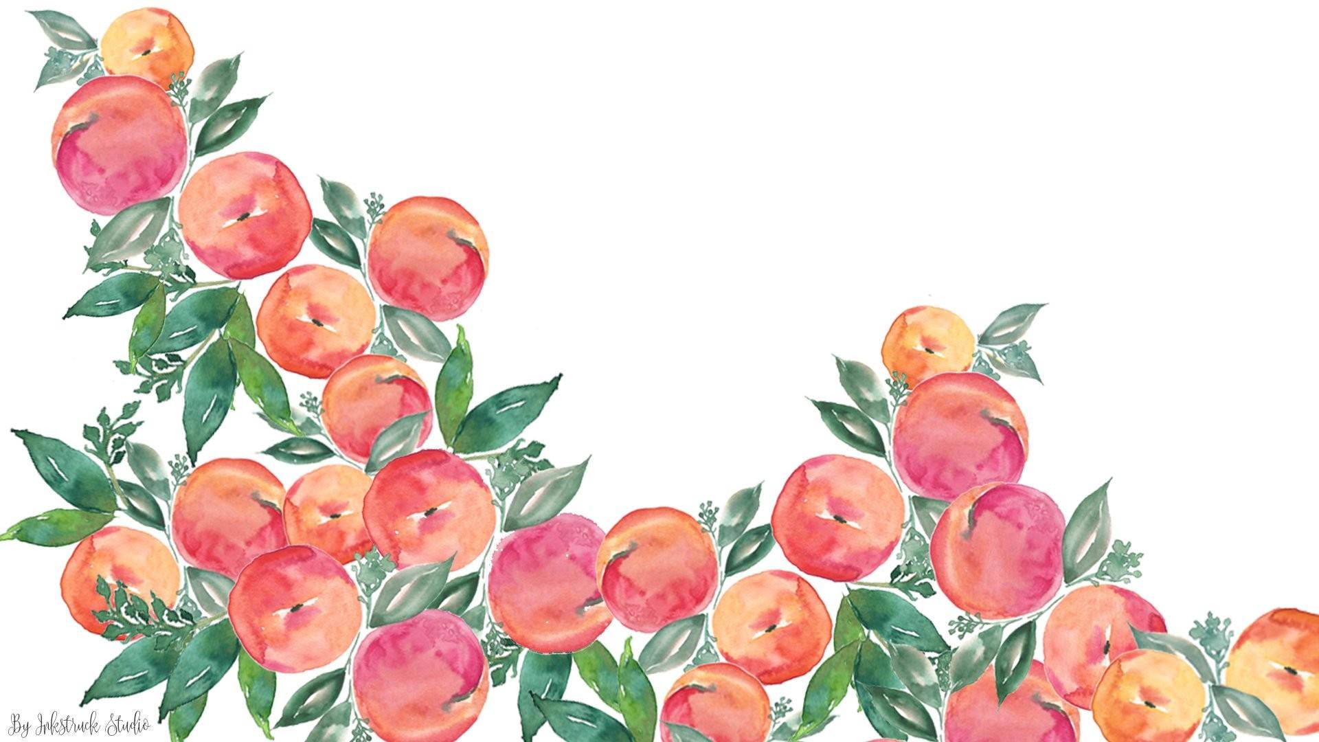 Watercolor peach wallpaper for desktop …