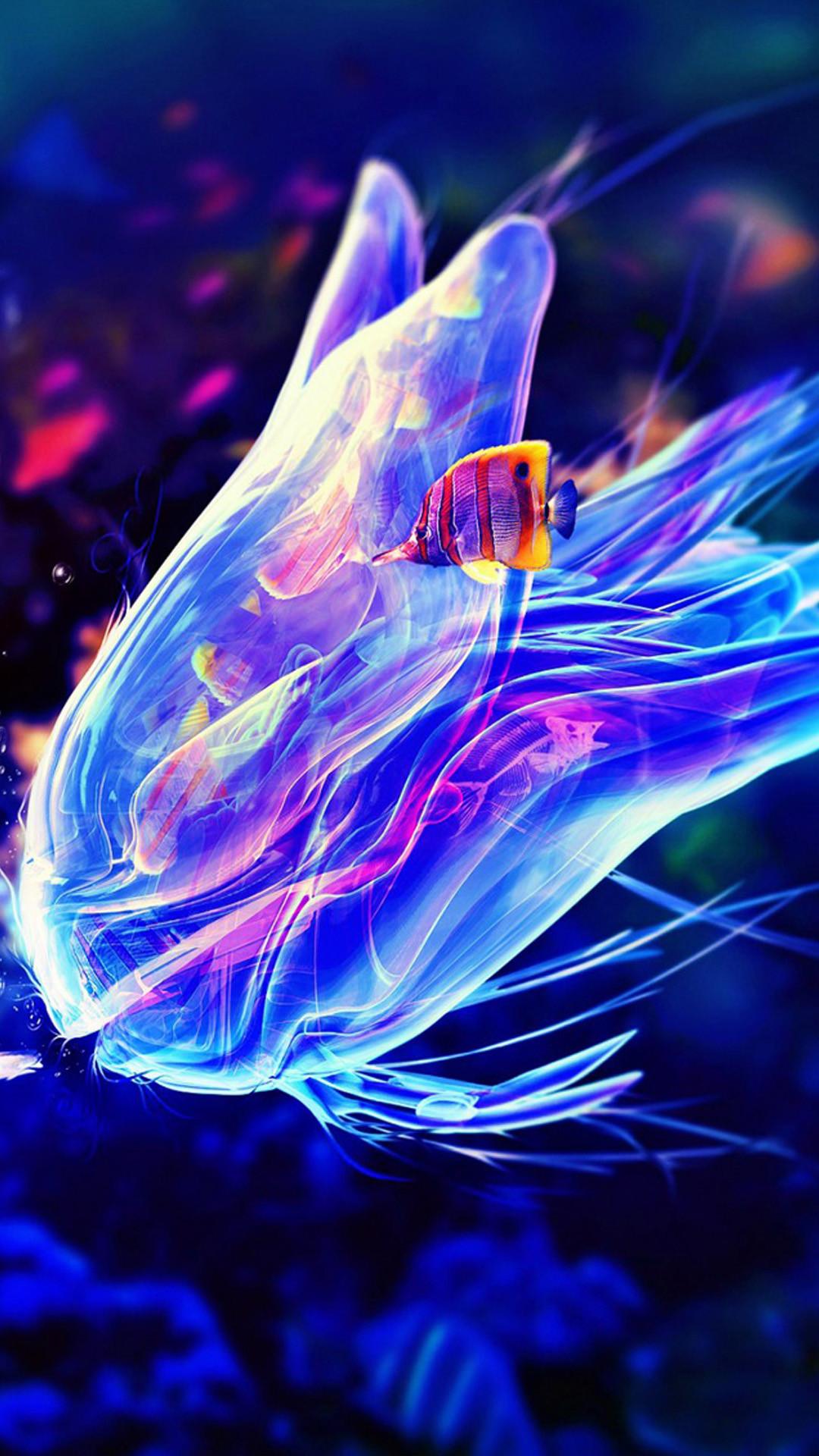 Blue Creative jellyfish Galaxy Note 3 Wallpaper