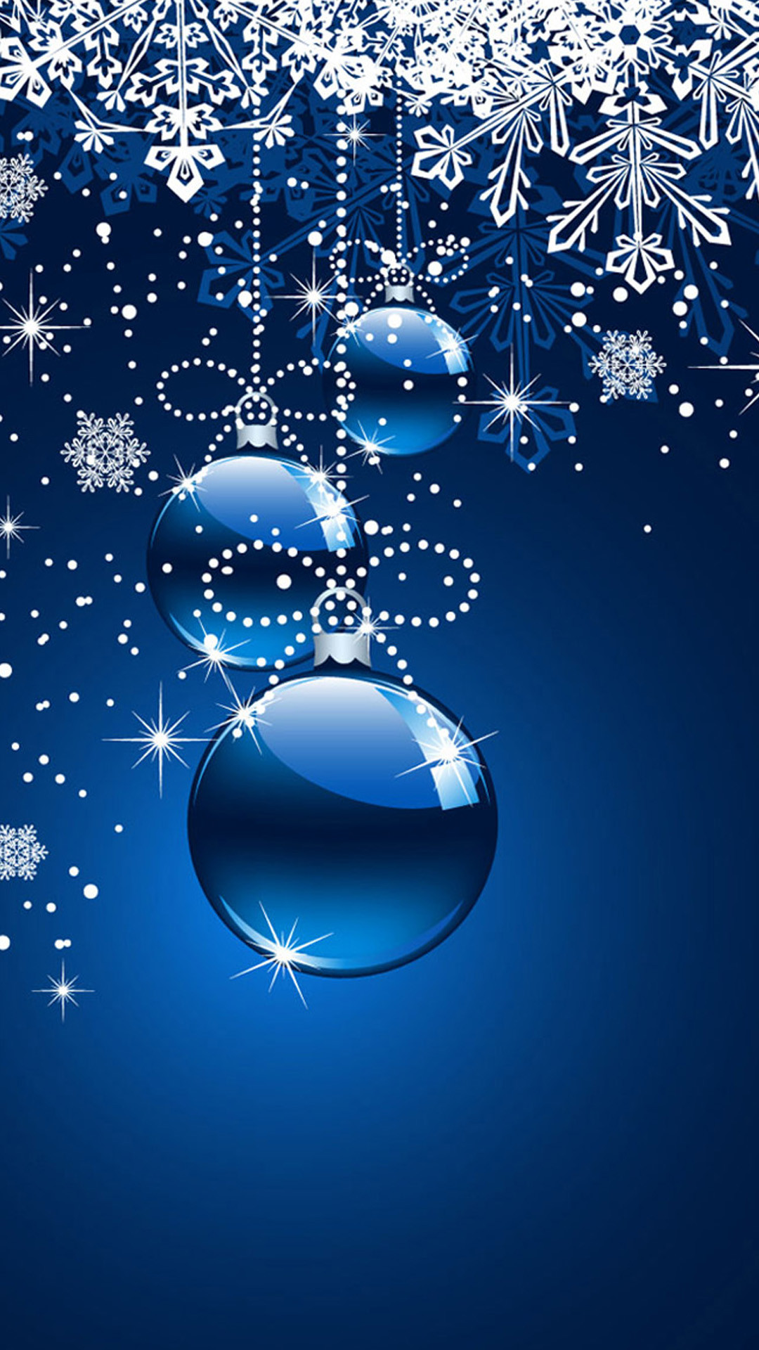 Blue Christmas ornaments Note 3 Wallpapers