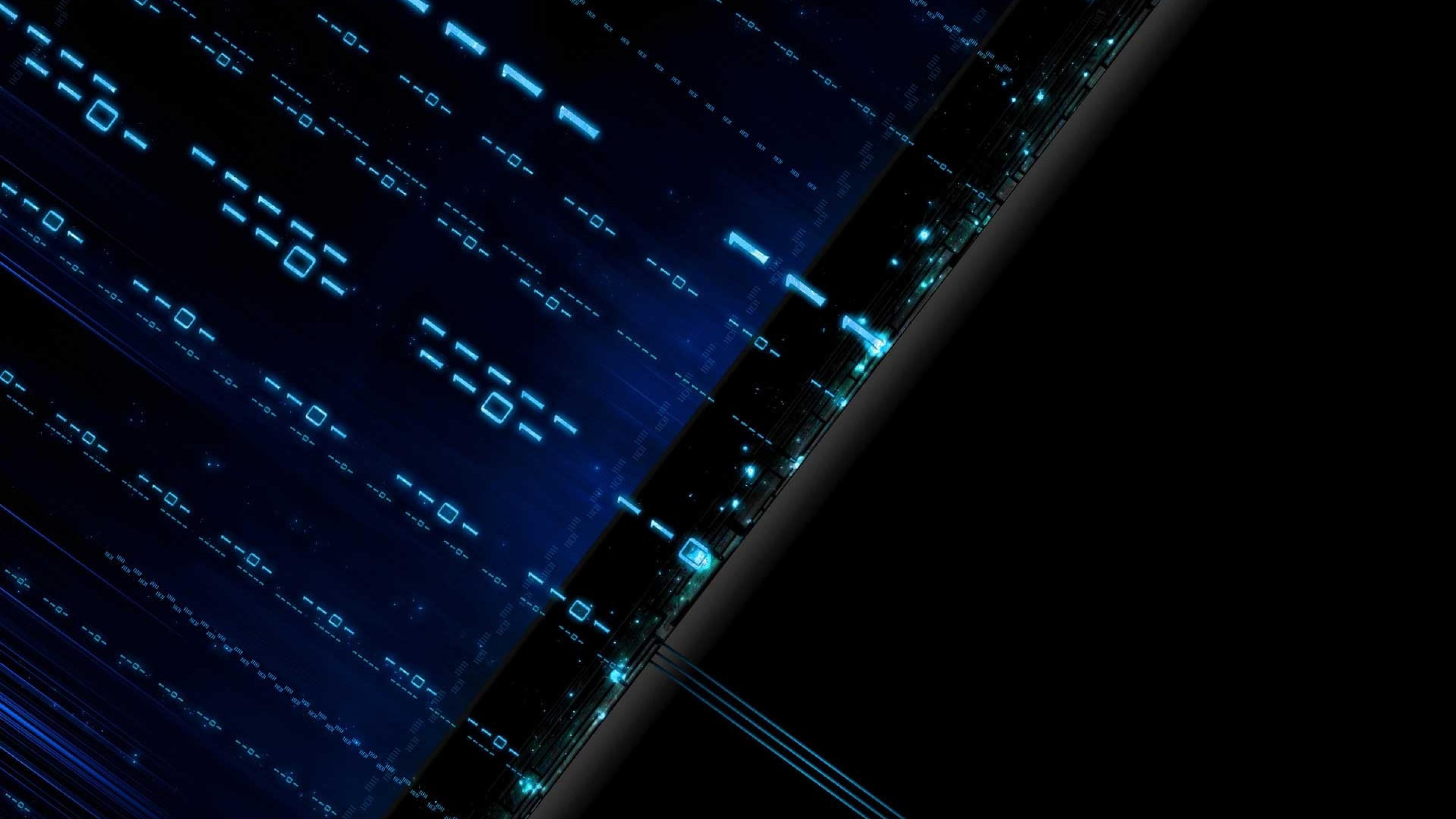 Wallpaper blue, black, matrix, figures