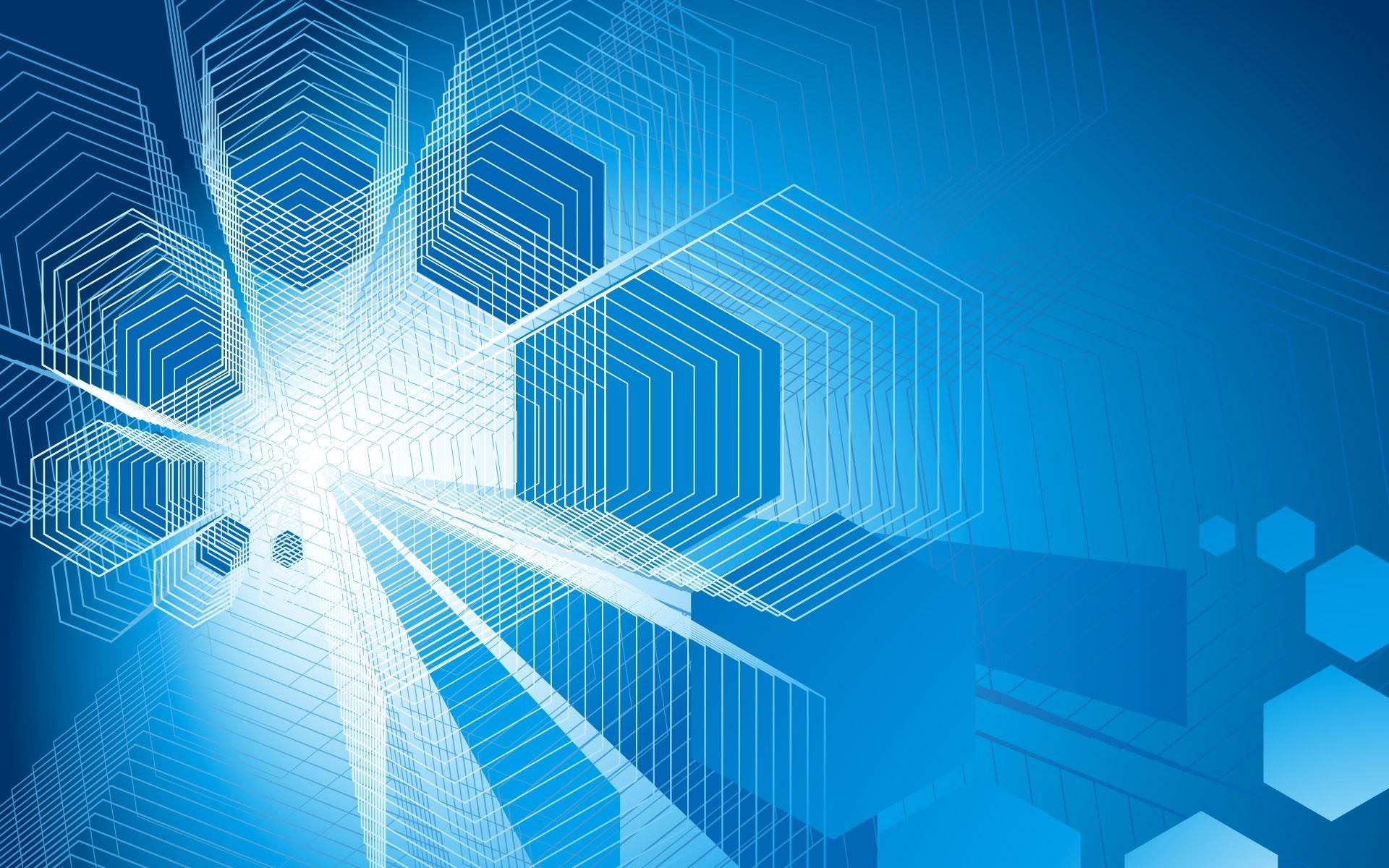 Blue Matrix Tones Background Wallpaper for PowerPoint Presentations