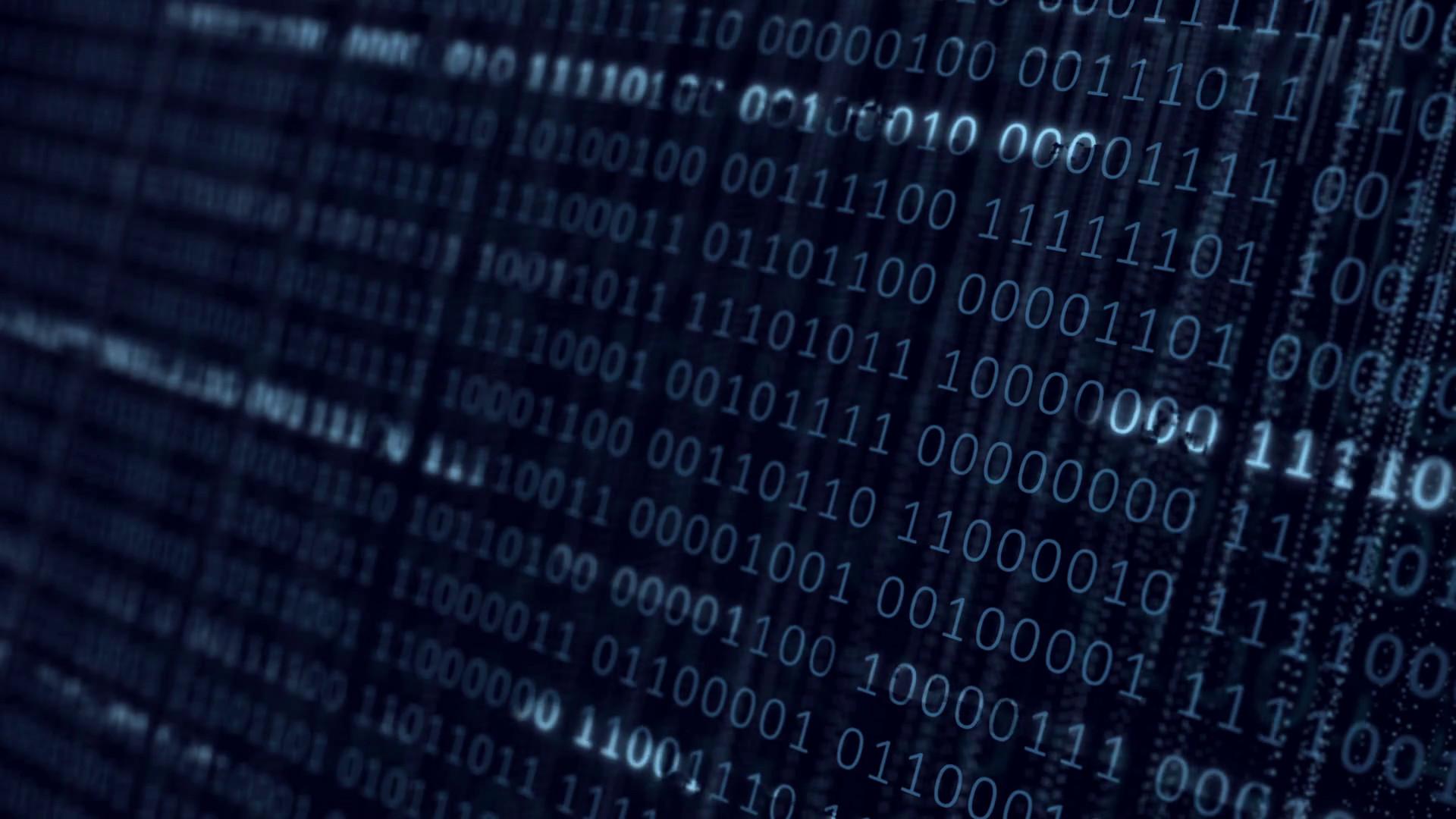 Blue digital matrix binary background. Motion graphic seamless loop  animation. Motion Background – VideoBlocks