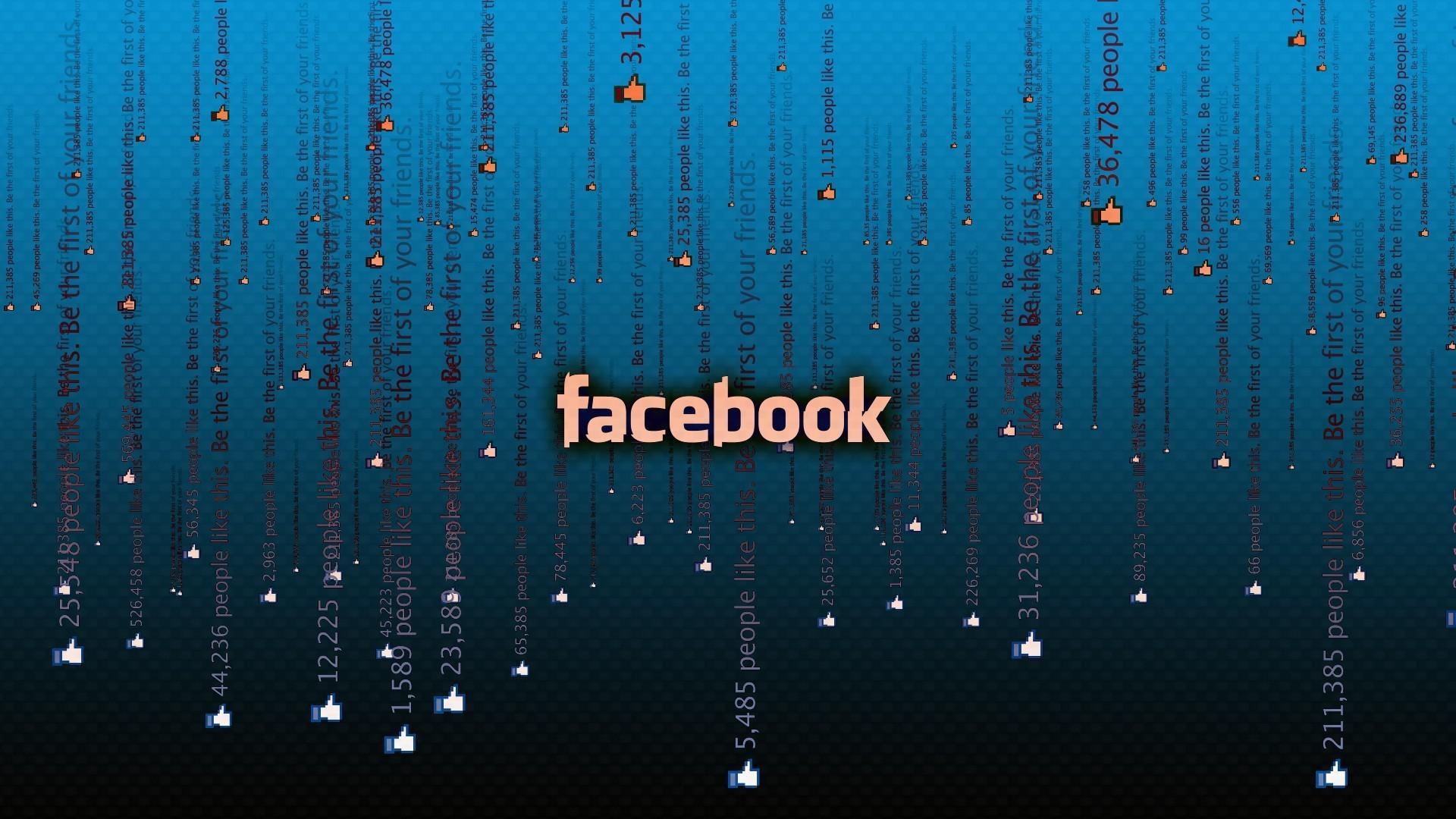 Facebook matrix blue wallpaper