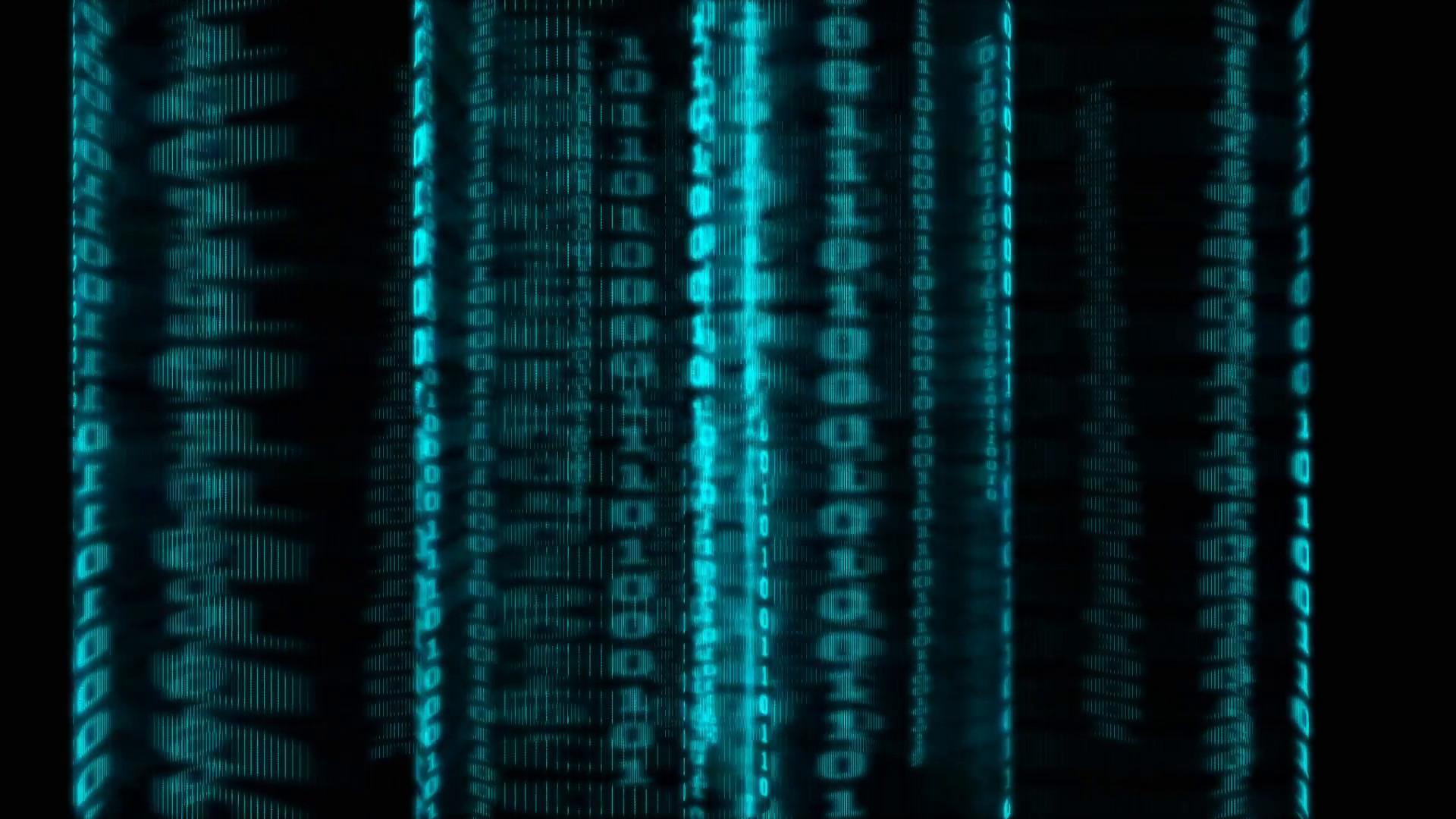Matrix Background.-Technology background with binary codes Motion Background  – VideoBlocks