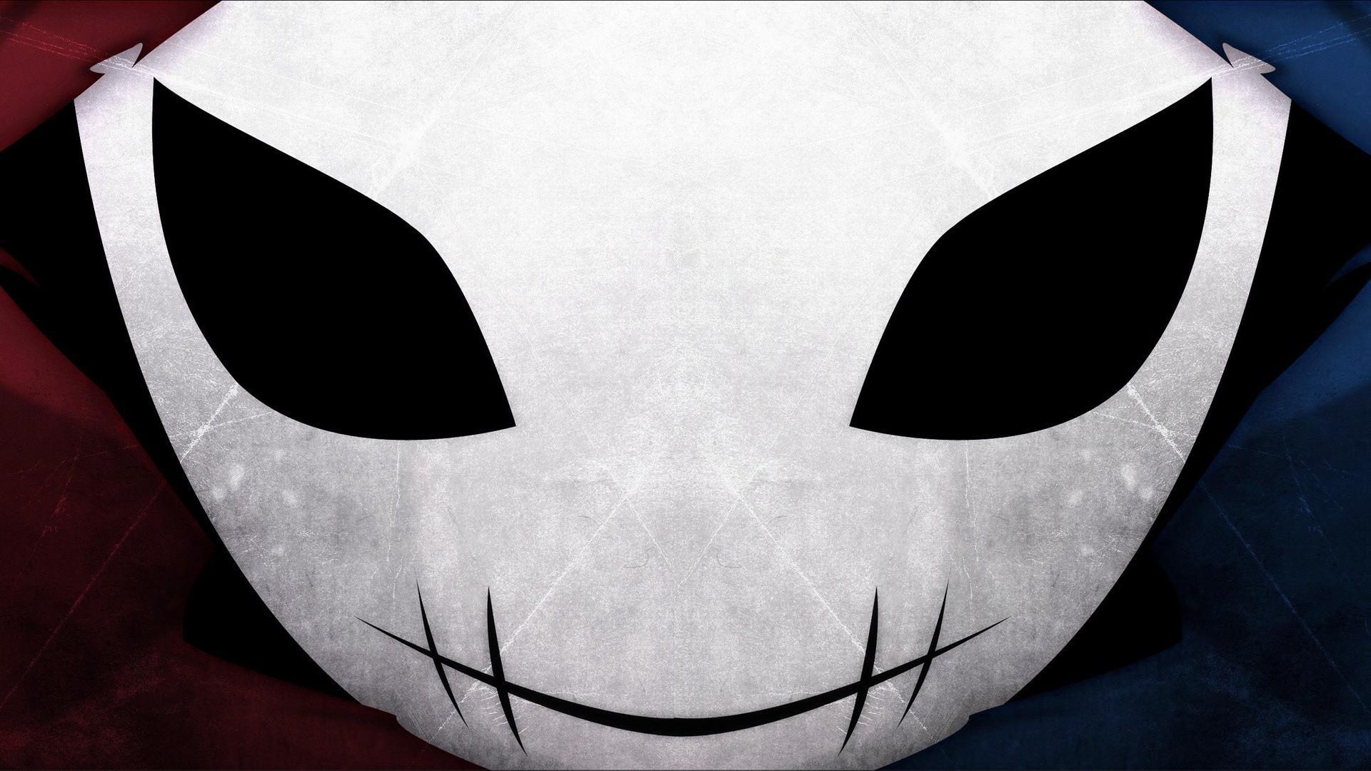 blue-red-masks-yumekui-merry-artwork-anime-hooded-