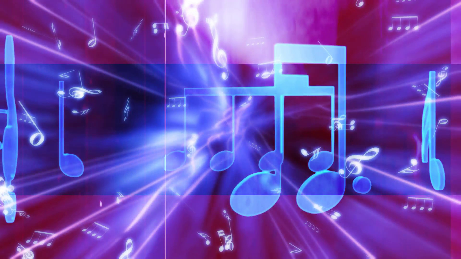 Subscription Library Bright Blue Music Note On Purple