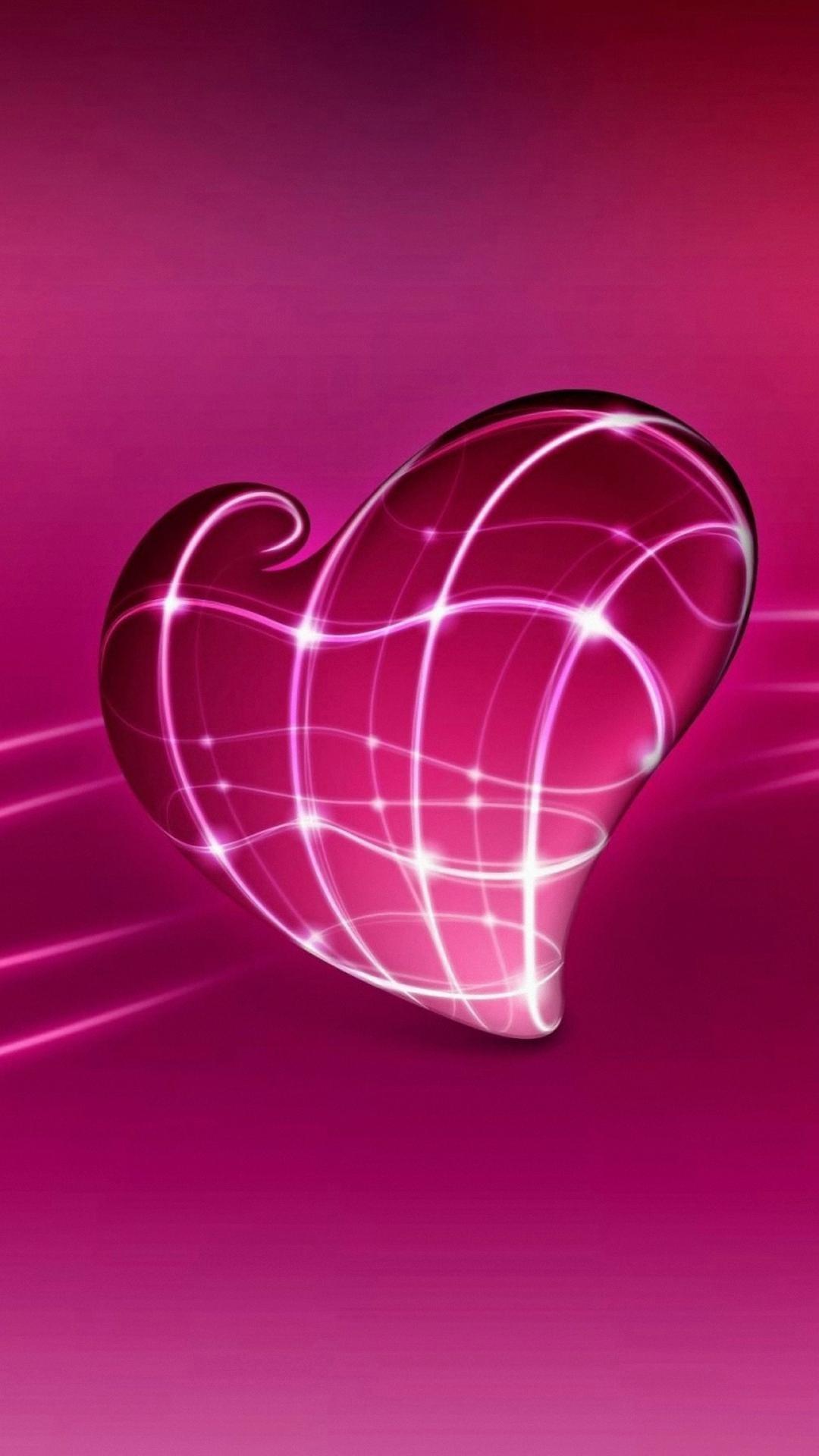 wallpaper.wiki-Light-Heart-Cool-Pink-Iphone-Wallpaper-