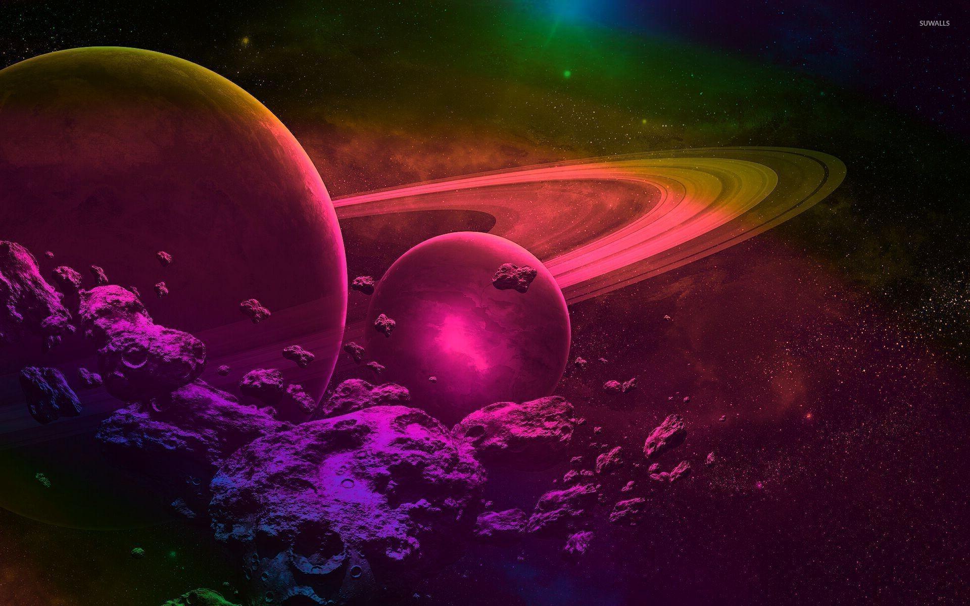 Pink and purple space wallpaper jpg