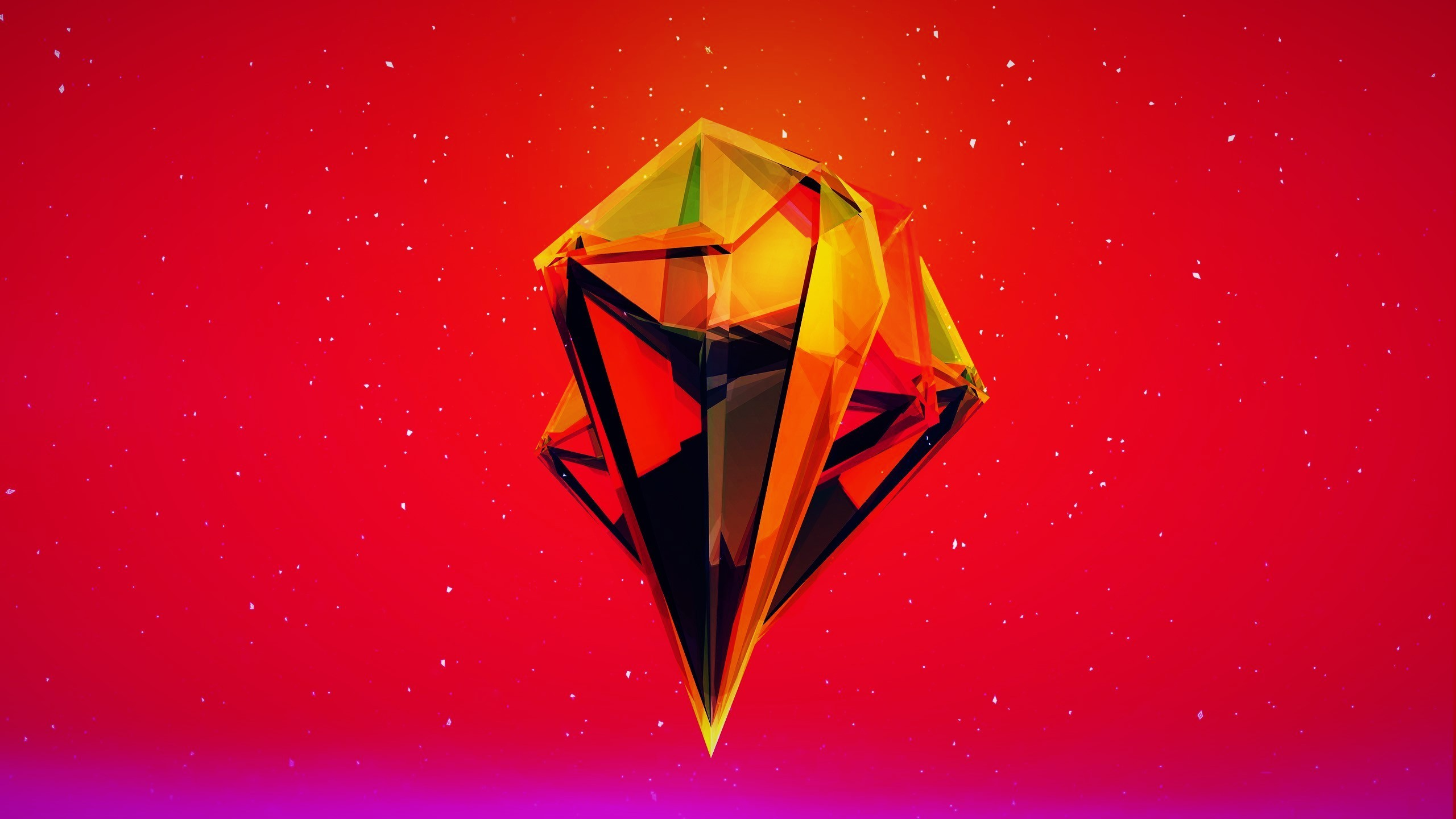 General Justin Maller red orange abstract 3D pink purple