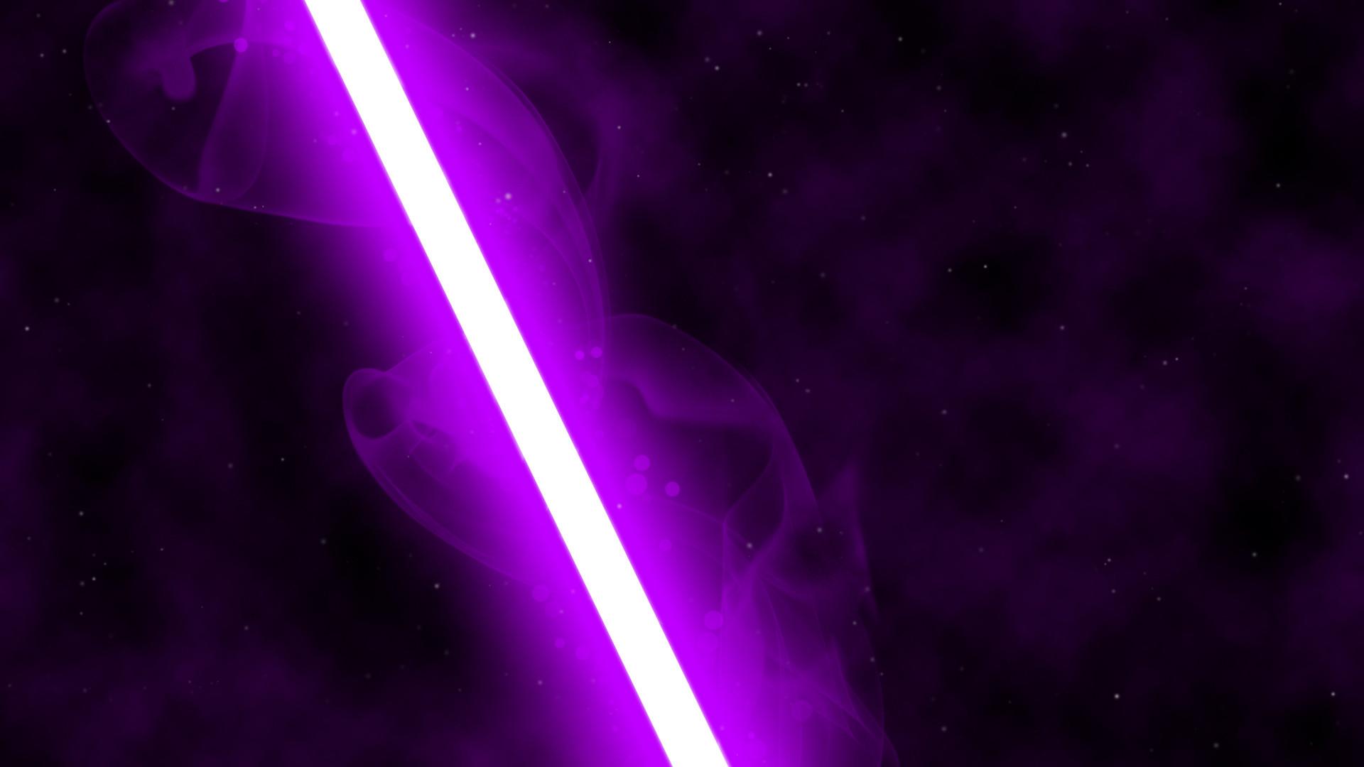 Purple Lightsaber Wallpaper