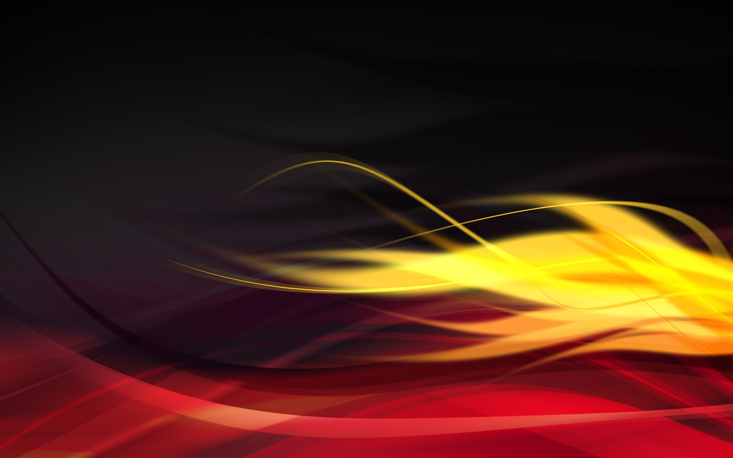 abstract, graphic design, wavy lines, red, yellow wallpapers hd