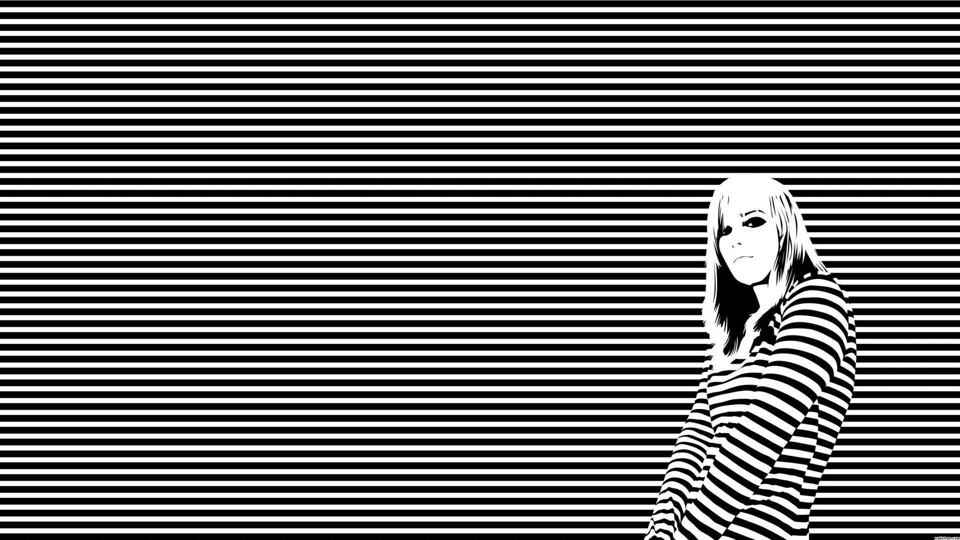 Featured Posts. Tired Girl Black and White Wallpaper …