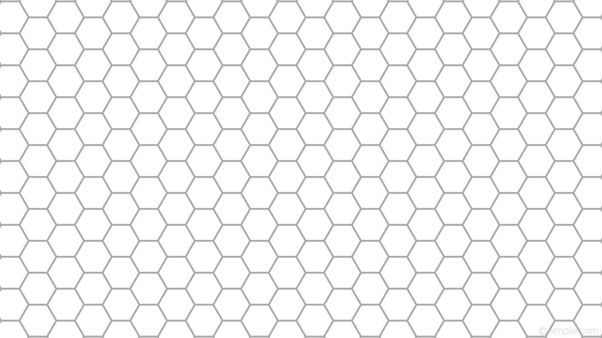 wallpaper beehive hexagon white honeycomb grey dark gray #ffffff #a9a9a9  diagonal 30° 6px