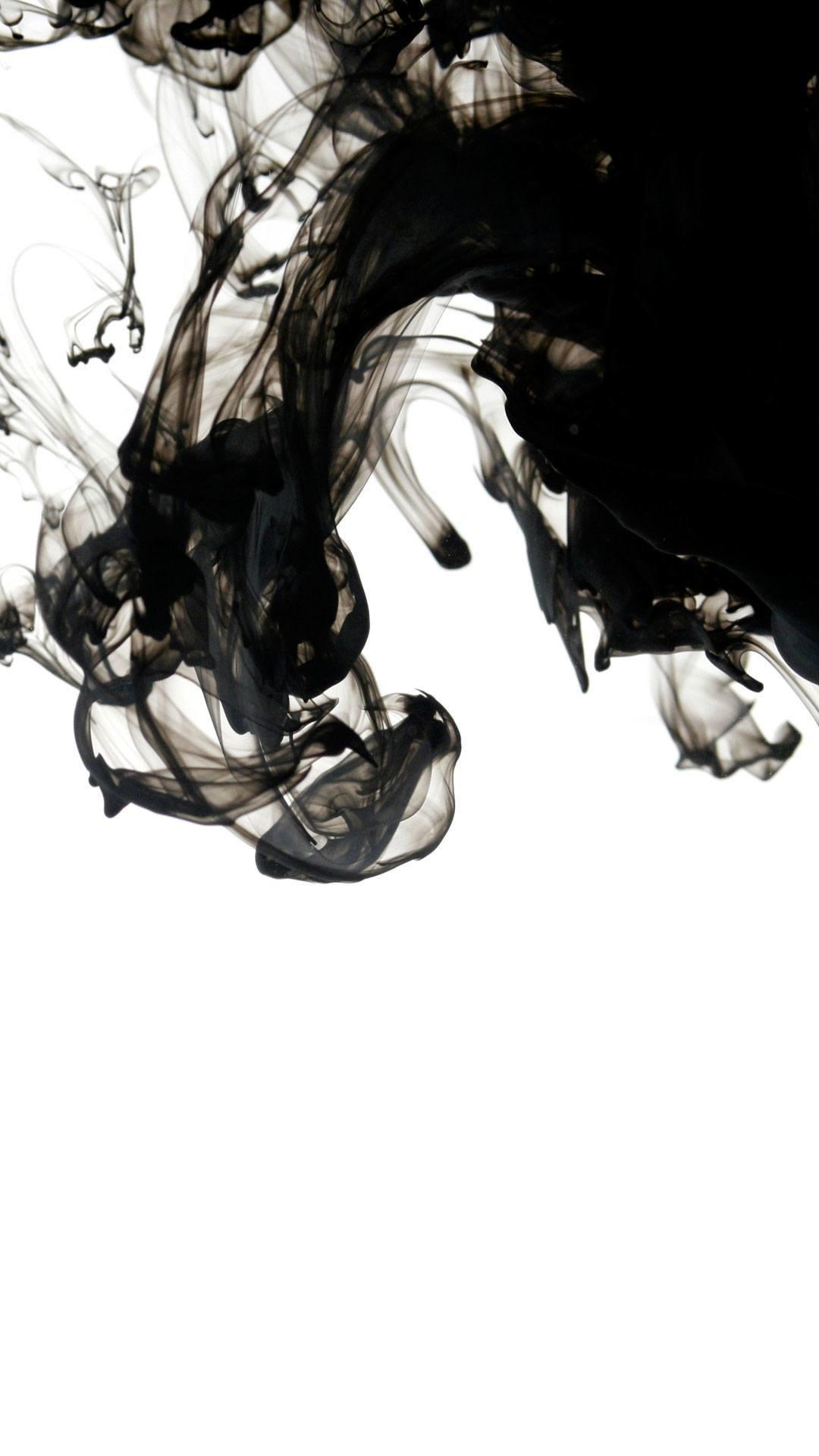 Black Ink In Water Wallpaper iPhone HD