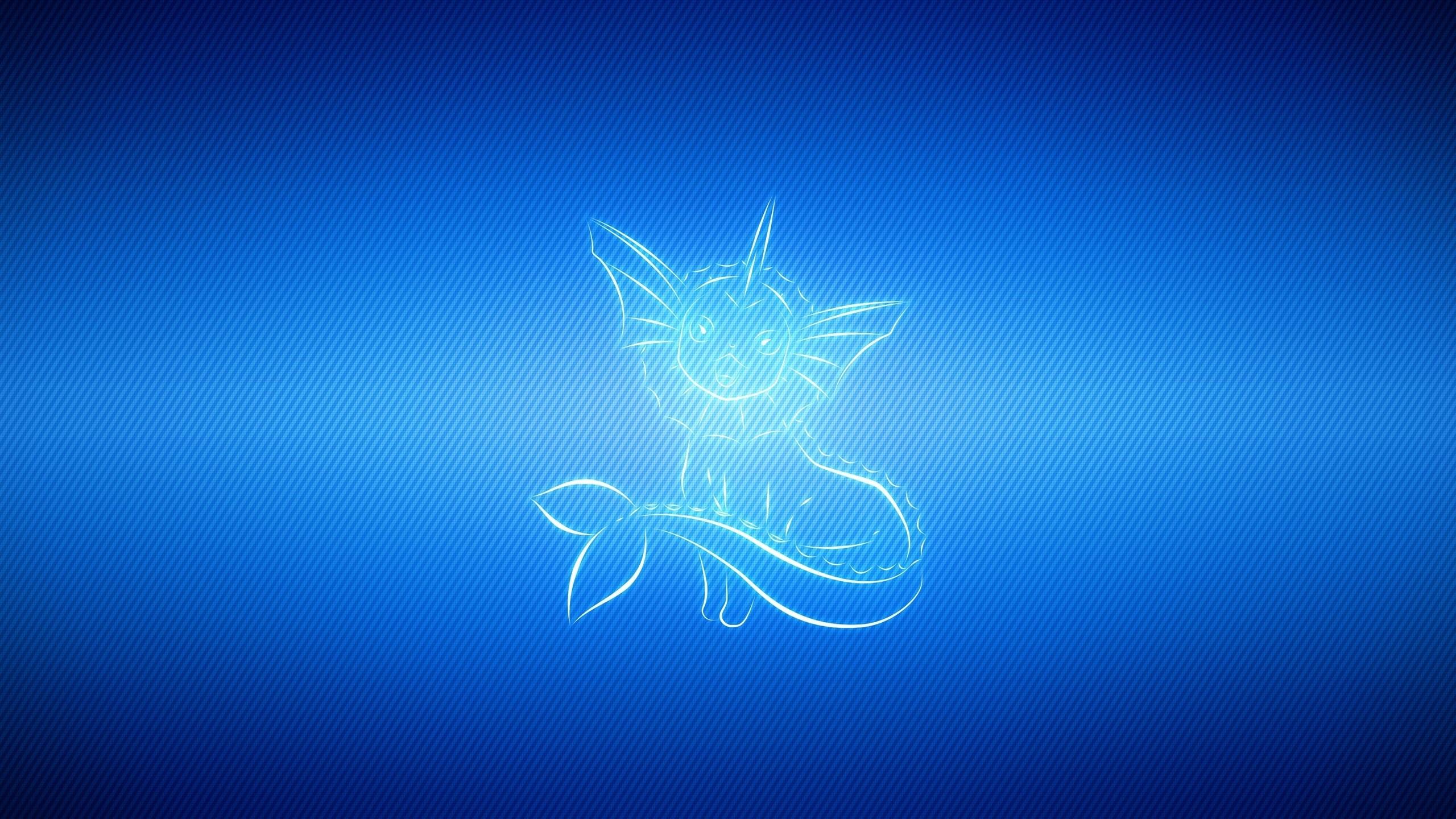 Wallpaper vaporeon, light, line, pokemon blue