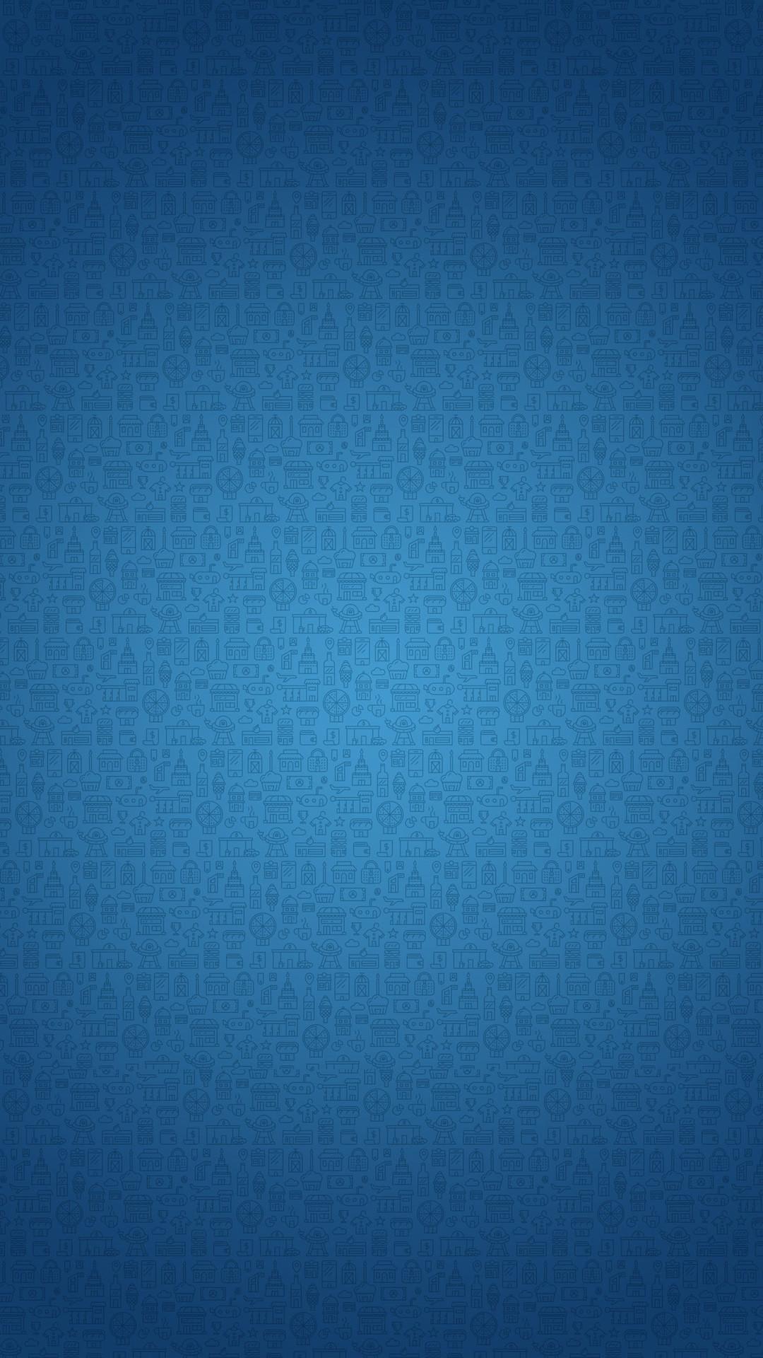 Blue Cartoon Background iPhone 6 wallpaper