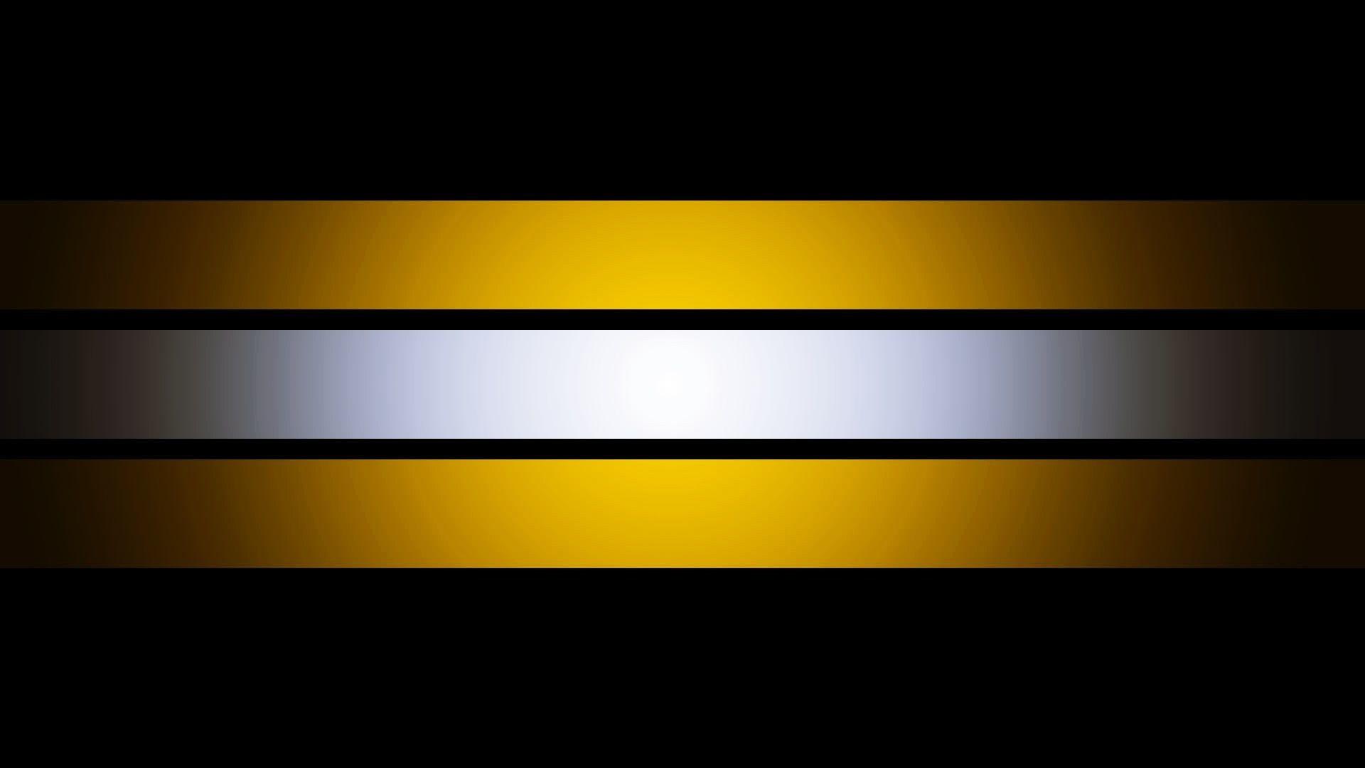 Yellow, White, Black Stripes Wallpaper
