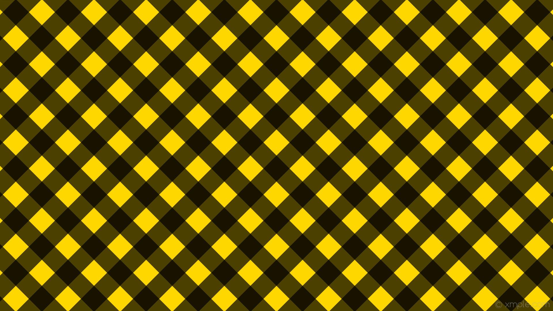 wallpaper gingham striped checker black yellow gold #ffd700 #000000 315°  64px
