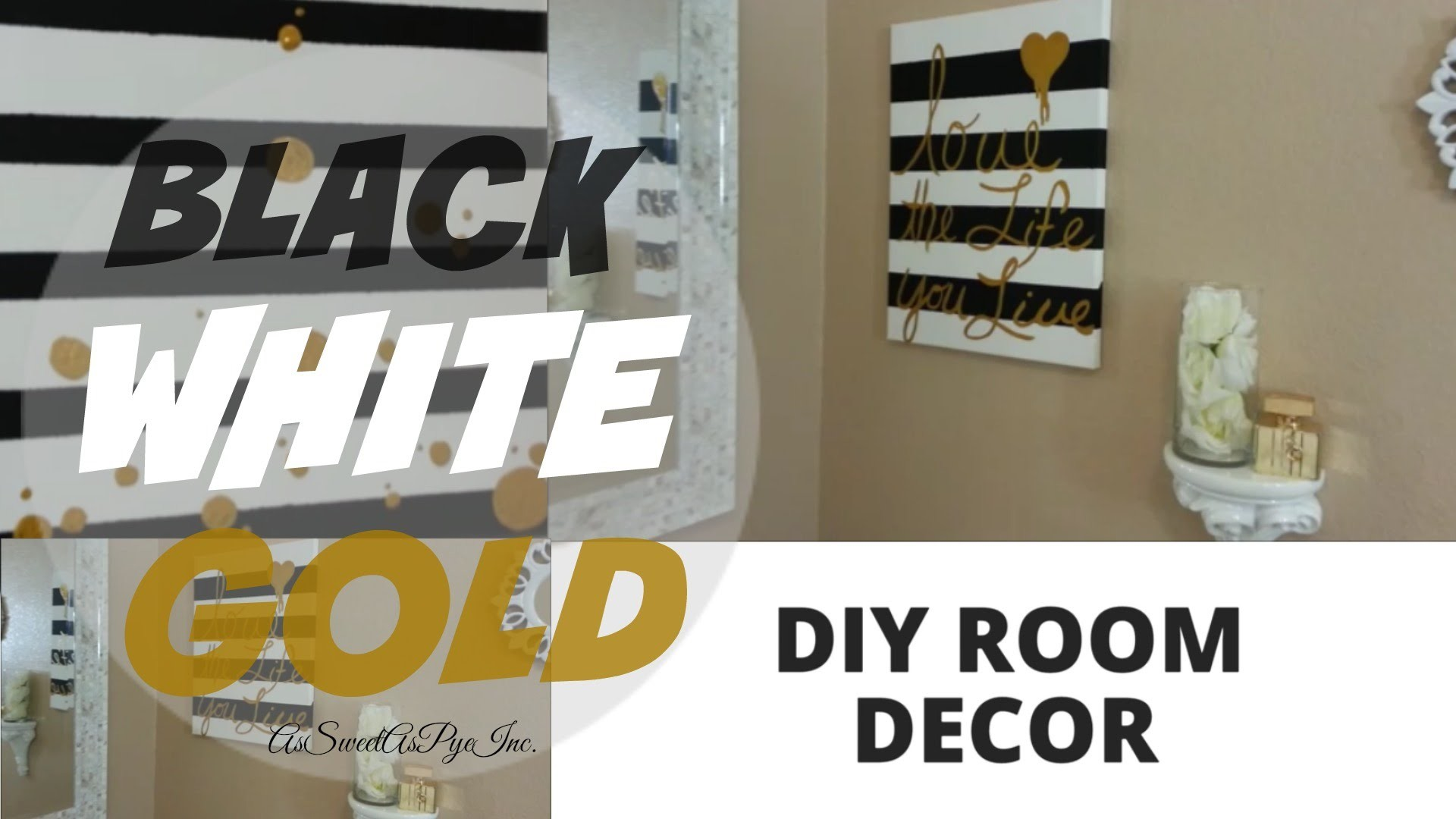 Black White And Gold Bedroom Ideas Diy Room Decor Black White Gold Youtube  Minimalist Design Pictures