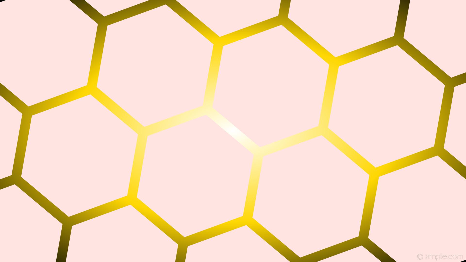wallpaper black gradient glow white hexagon yellow misty rose gold #ffe4e1  #ffffff #ffd700