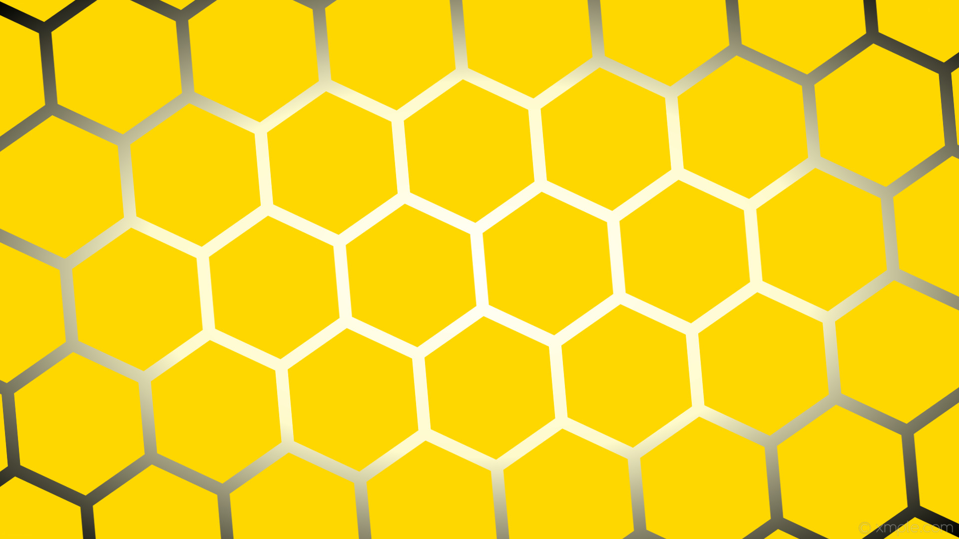 wallpaper yellow black white glow hexagon gradient gold lemon chiffon  #ffd700 #ffffff #fffacd