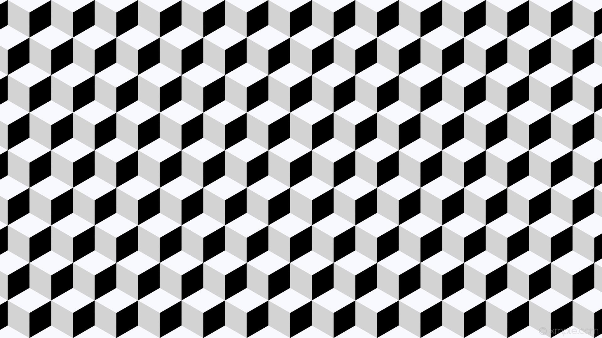 wallpaper white 3d cubes grey black ghost white light gray #000000 #f8f8ff  #d3d3d3