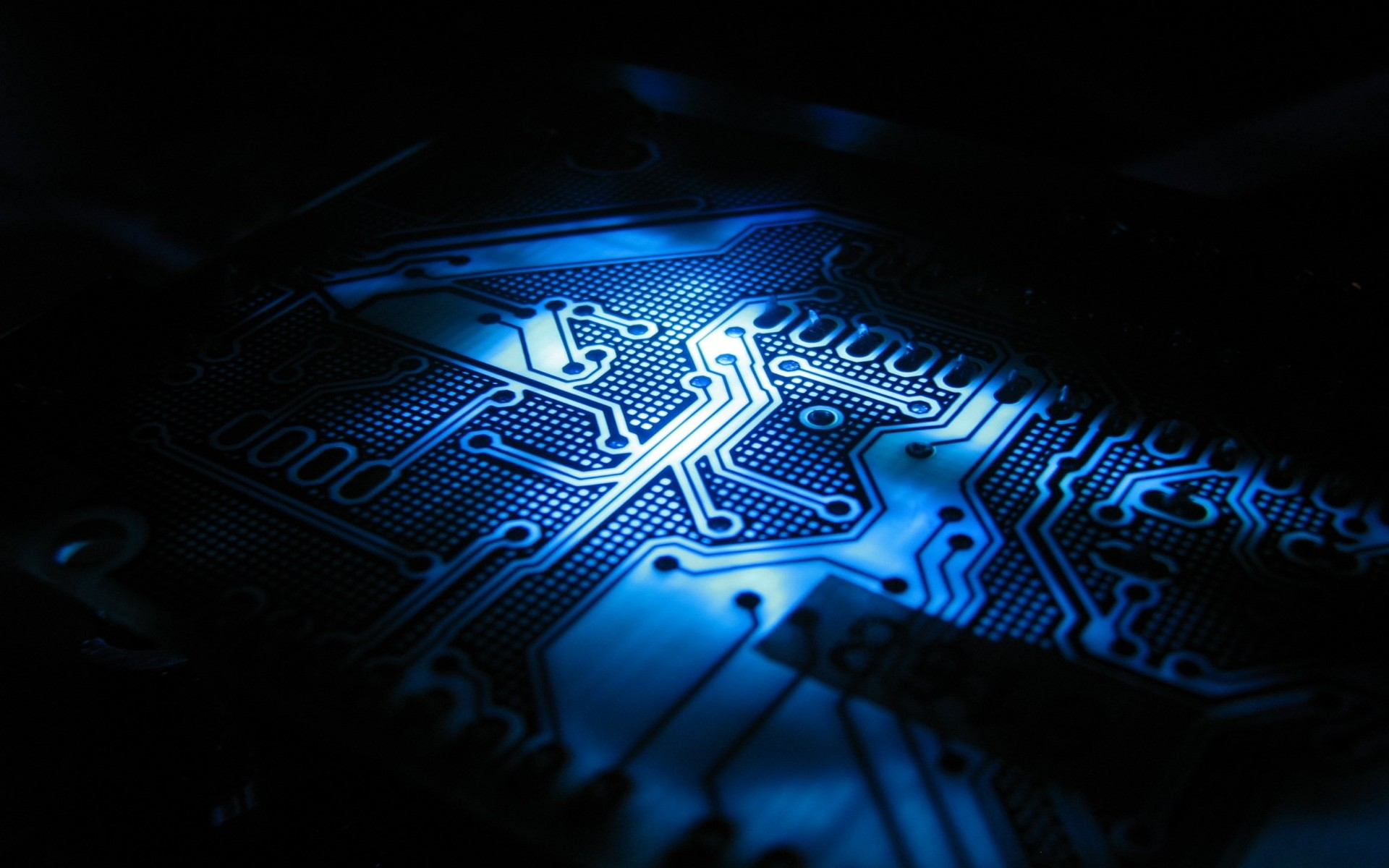 circuit board Electronic Devices tech blue abstract line metal detail  wallpaper
