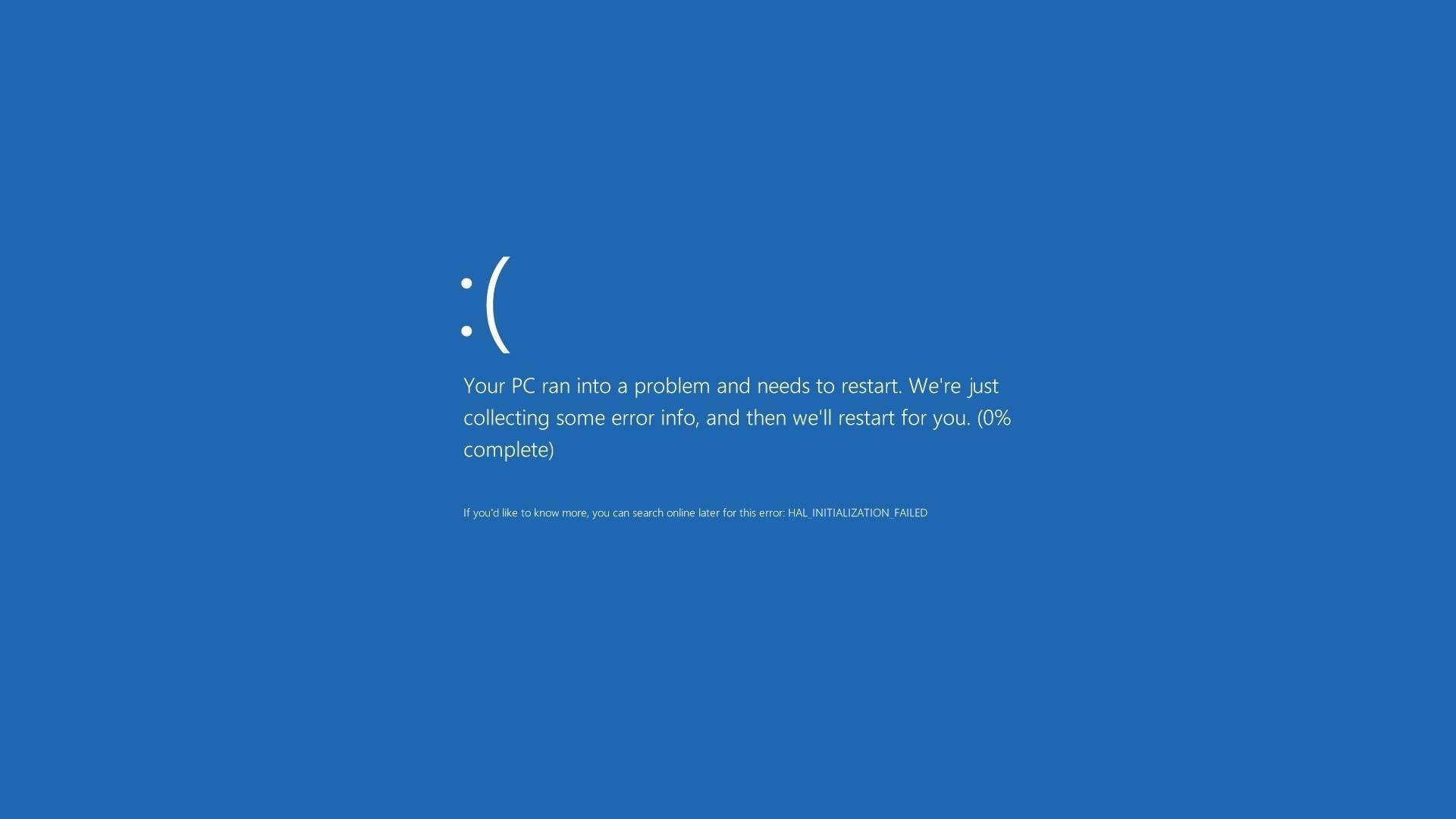 Blue Screen of Death computer tech wallpaper