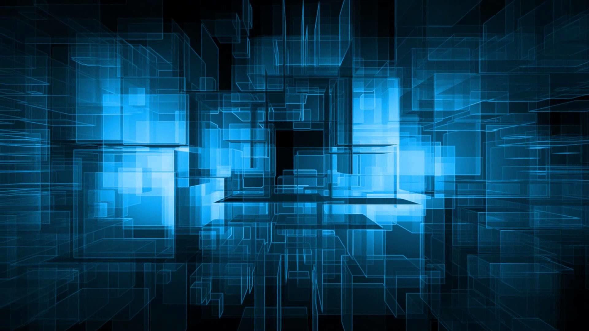 Motion Background Full HD : Blue Grid