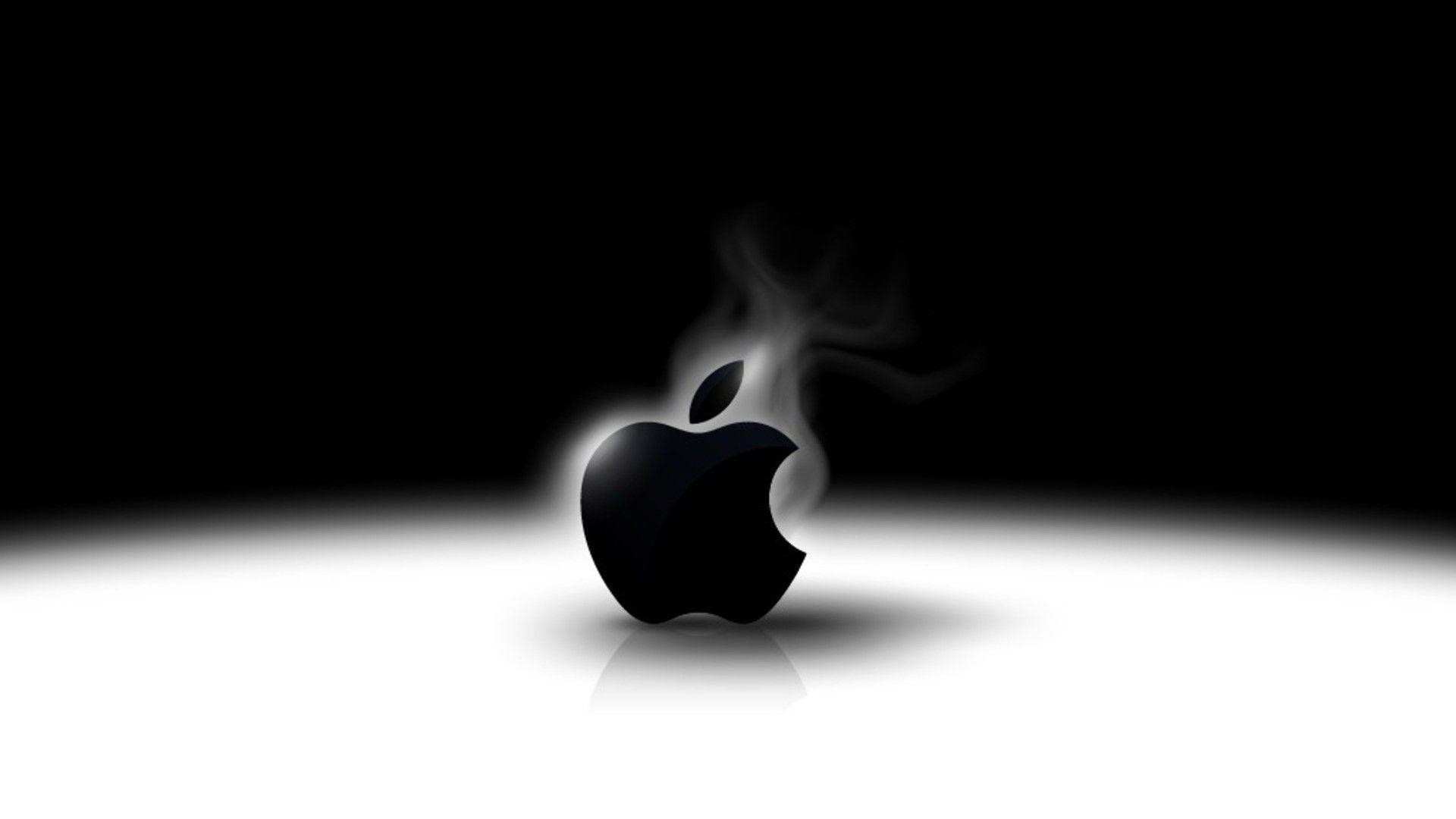 <b>Black</b> Glossy <b>Apple Logo</