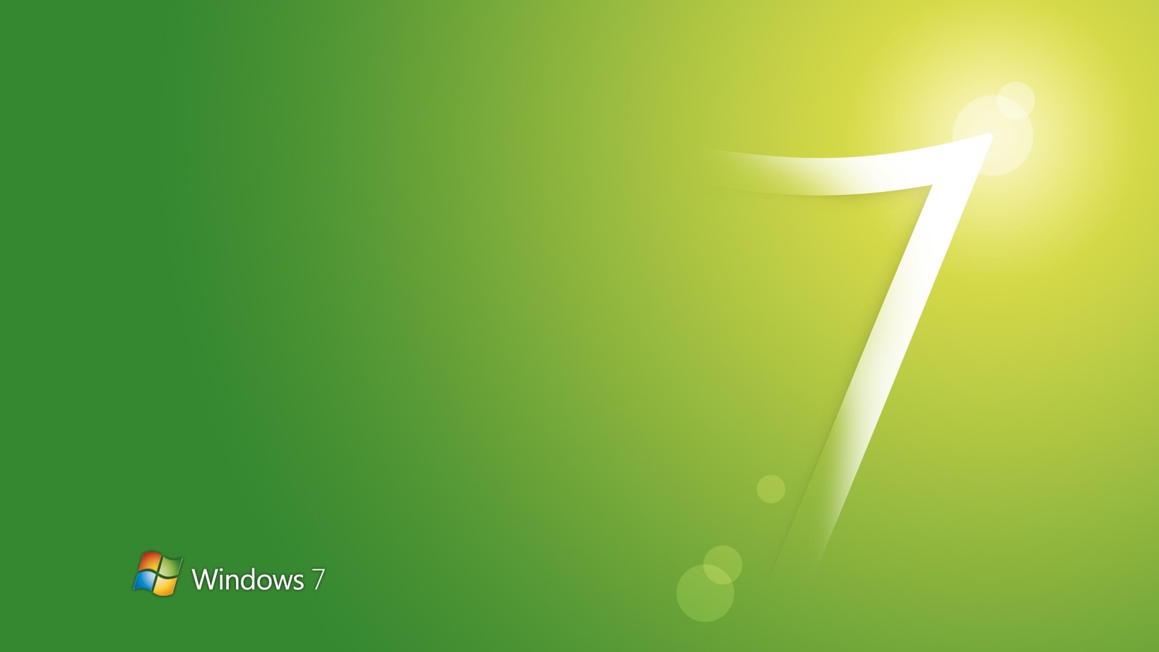 Wallpaper windows 7, green, white, os