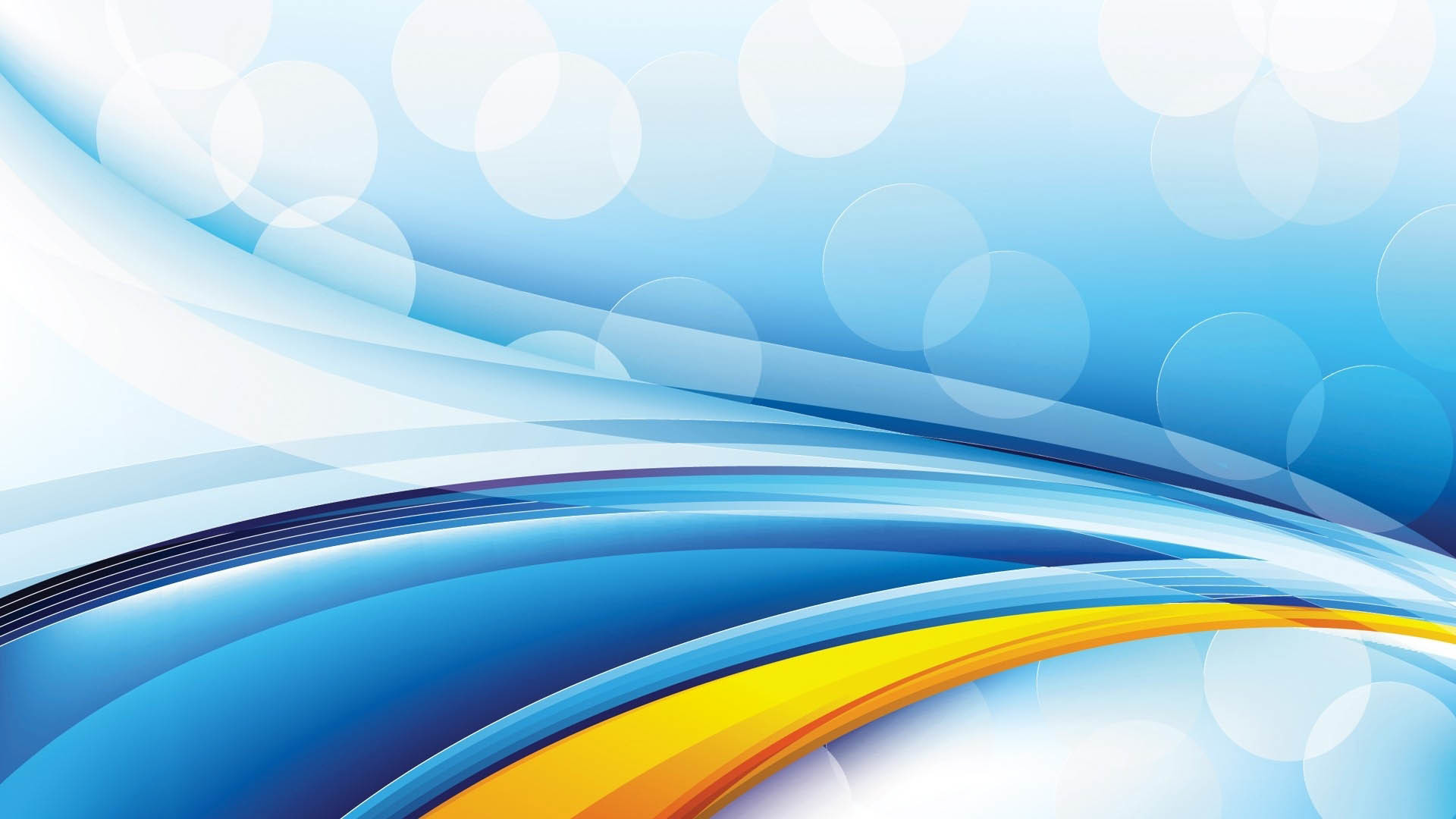 Vector Blue & Yellow Desktop Design wallpaper