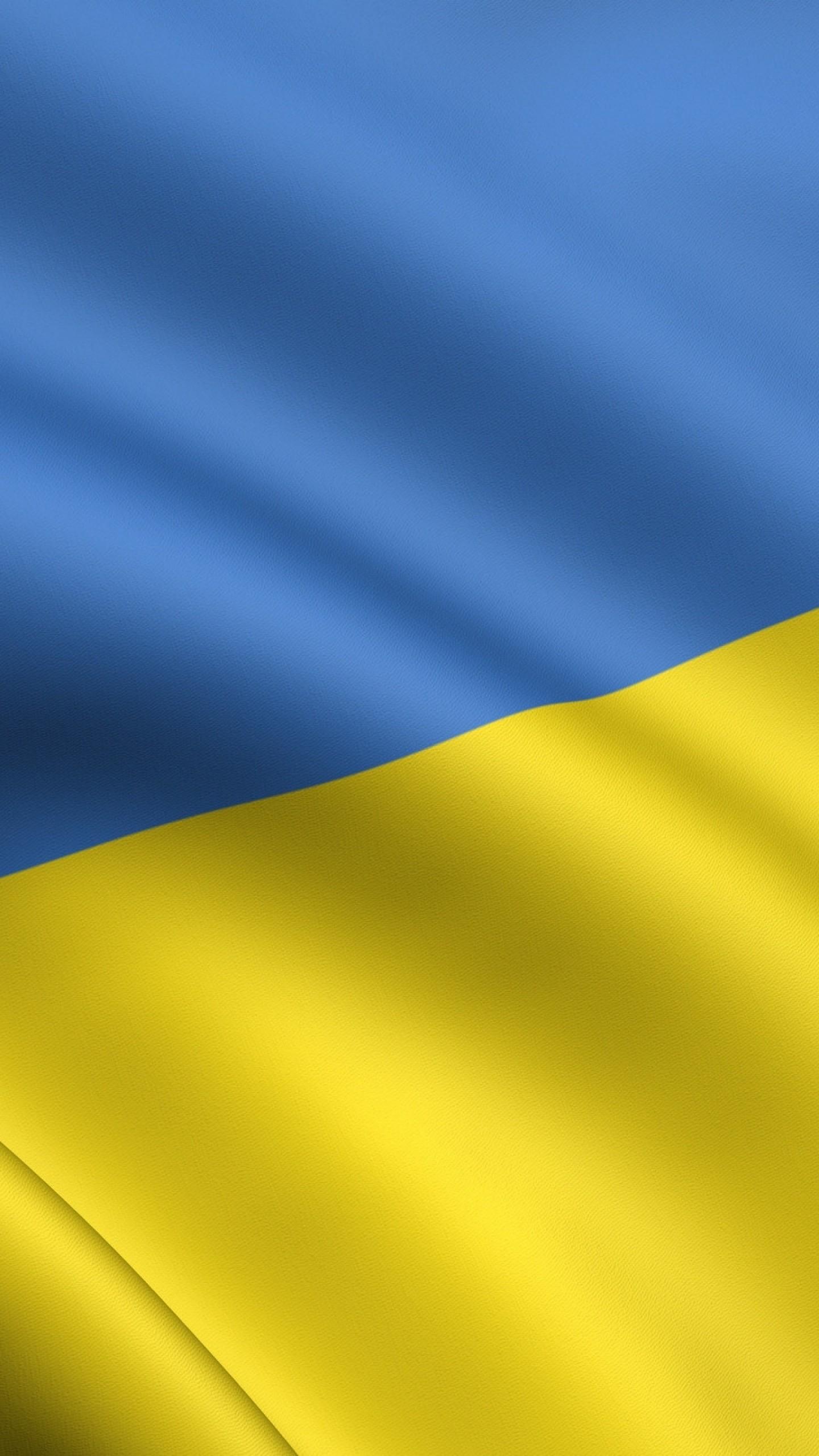 Preview wallpaper yellow, blue, flag, ukraine 1440×2560