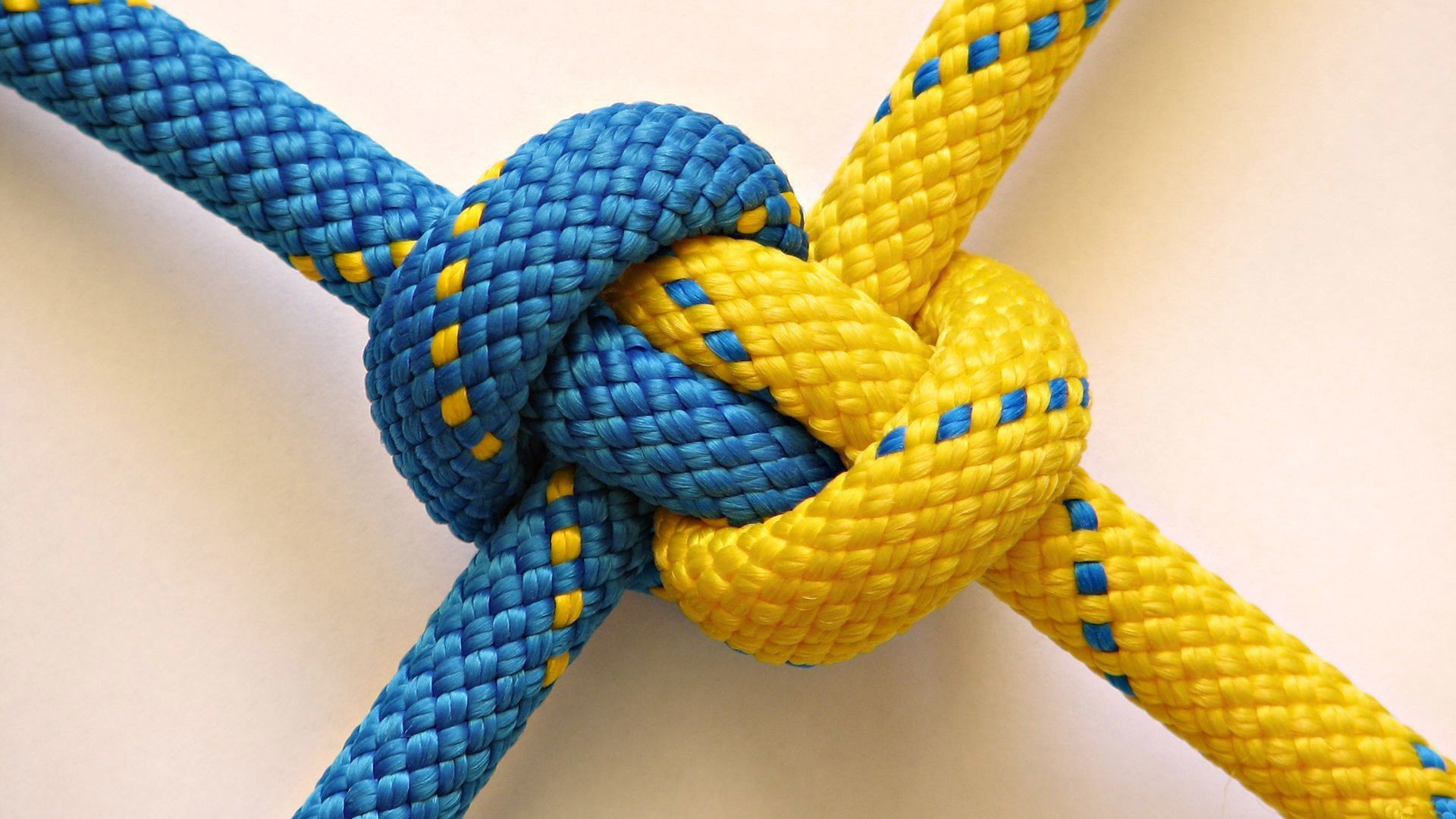 Blue and Yellow Knot wallpaper