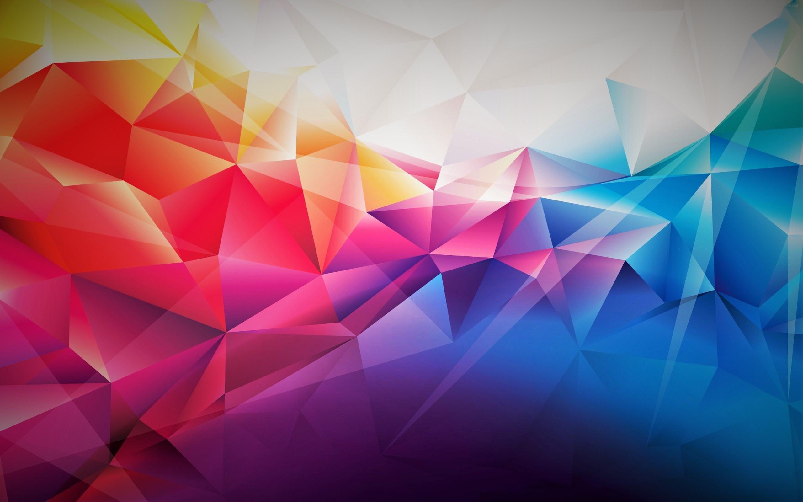 General abstract blue yellow red pink purple orange colorful