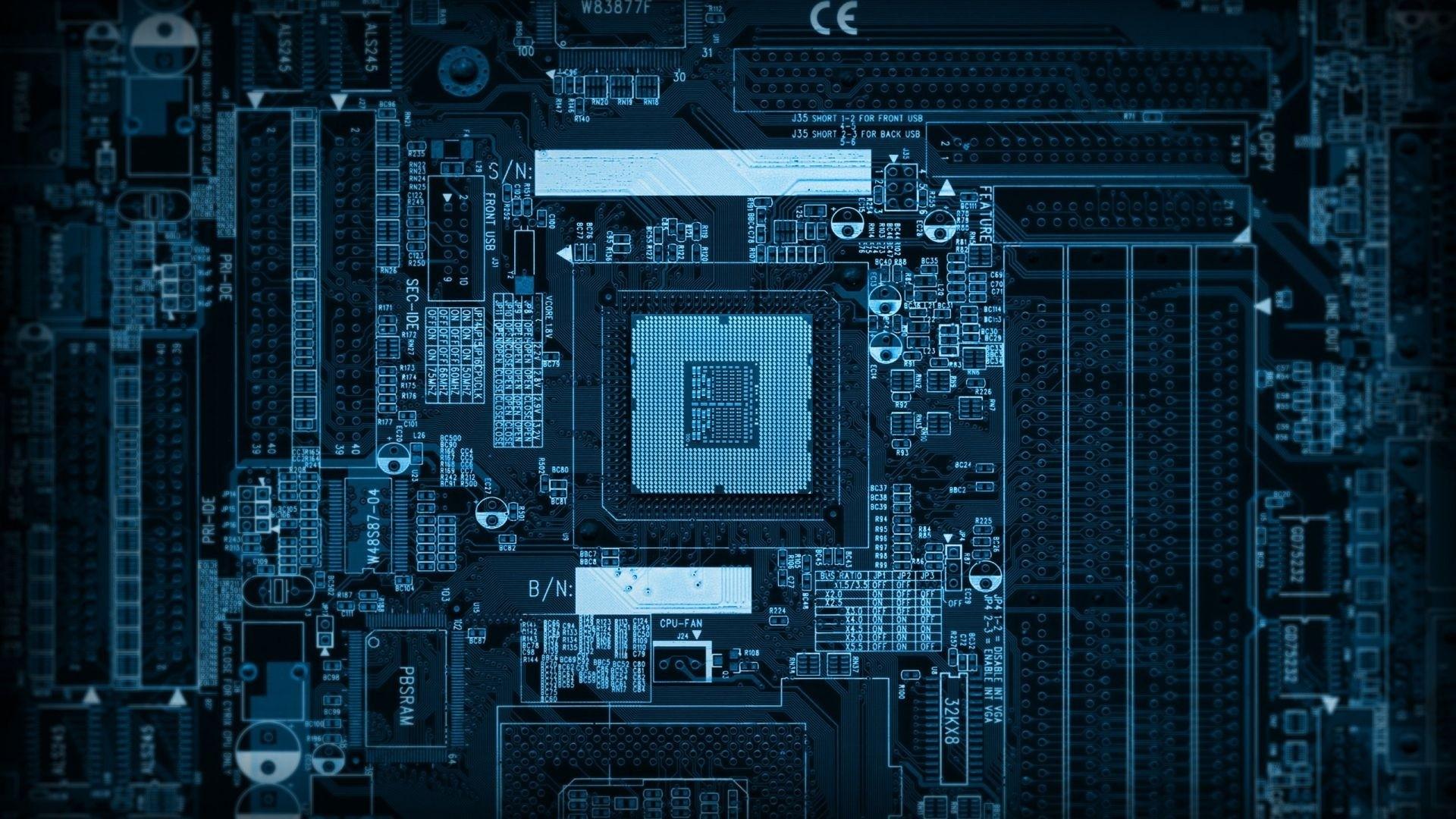 Preview wallpaper chip, computer, microchip, processor 1920×1080